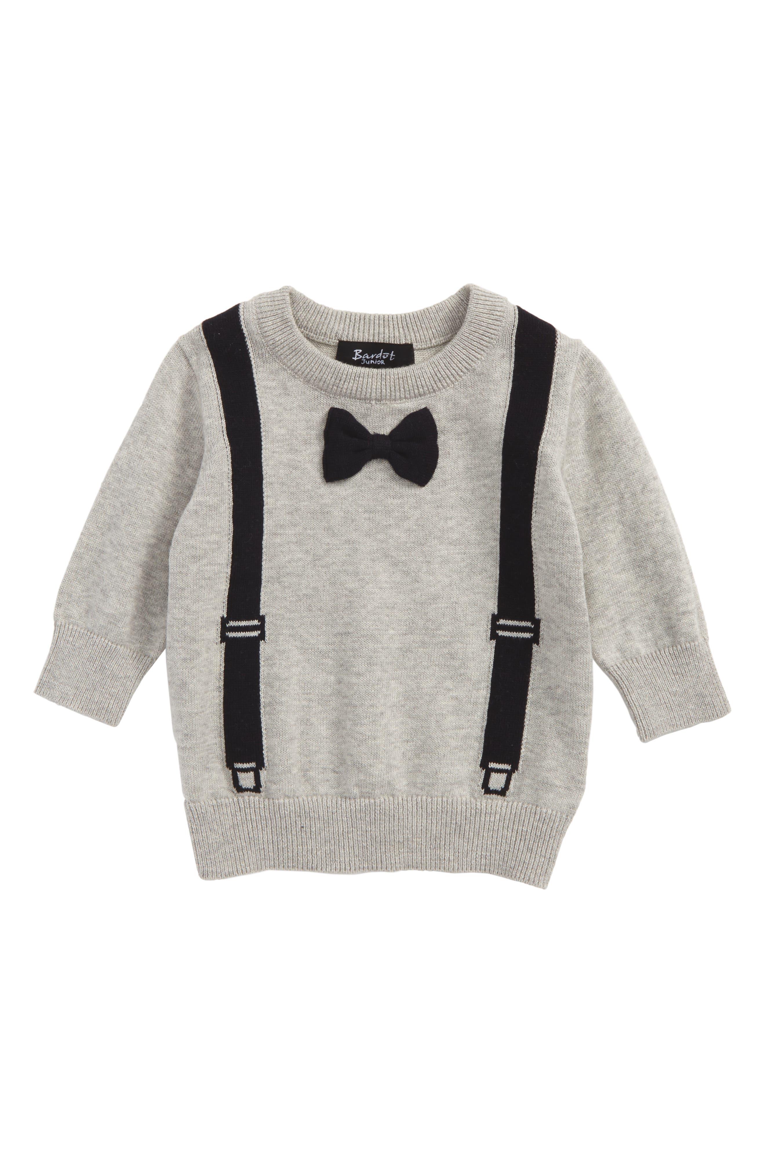 Bardot Junior Intarsia Knit Sweater (Baby Boys & Toddler Boys)