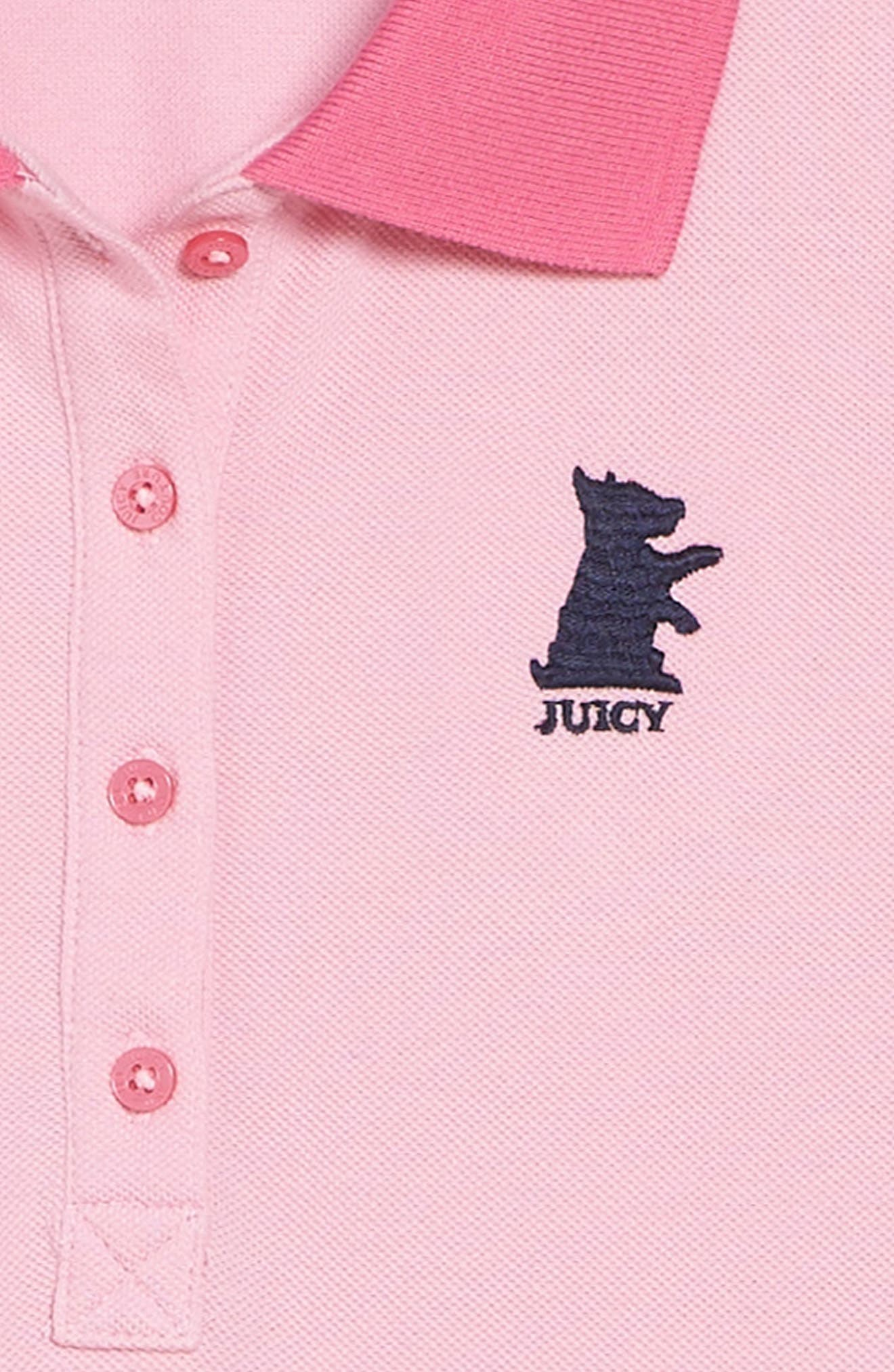 Alternate Image 3  - Juicy Couture Piqué Polo Dress (Big Girls)