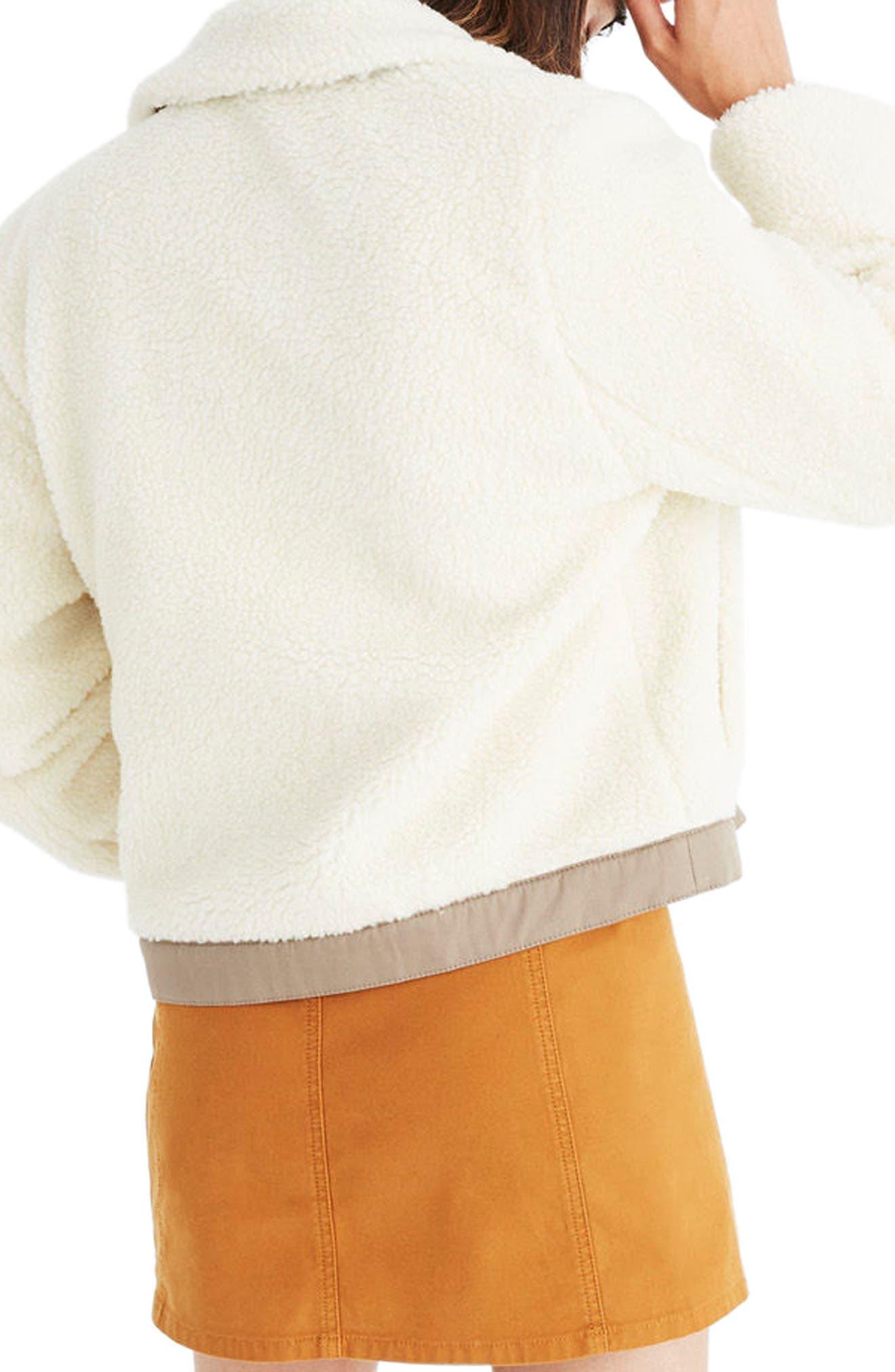 Alternate Image 2  - Madewell Portland Faux Shearling Jacket