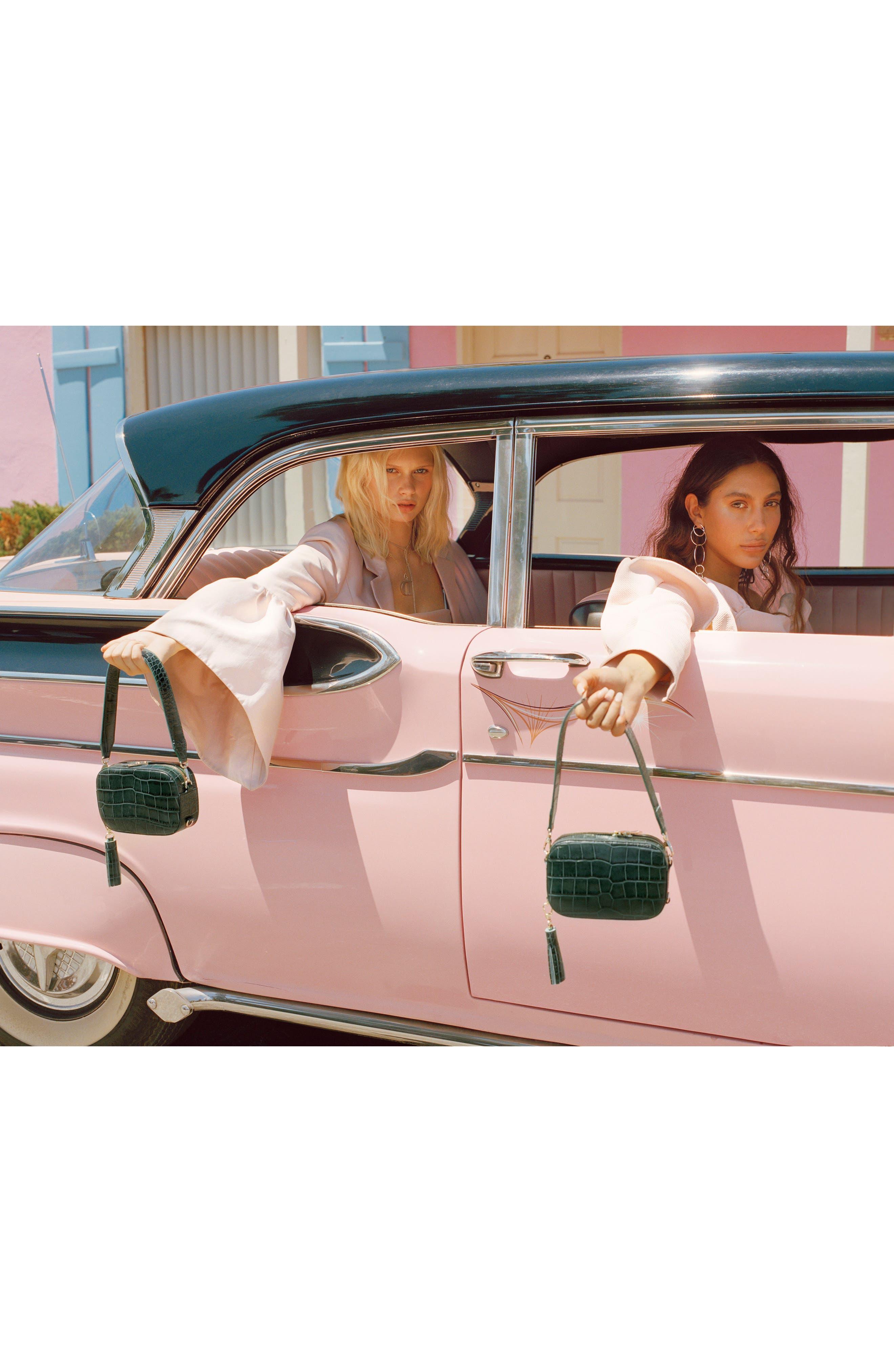 Alternate Image 8  - Pop & Suki Croc Embossed Camera Bag (Nordstrom Exclusive)