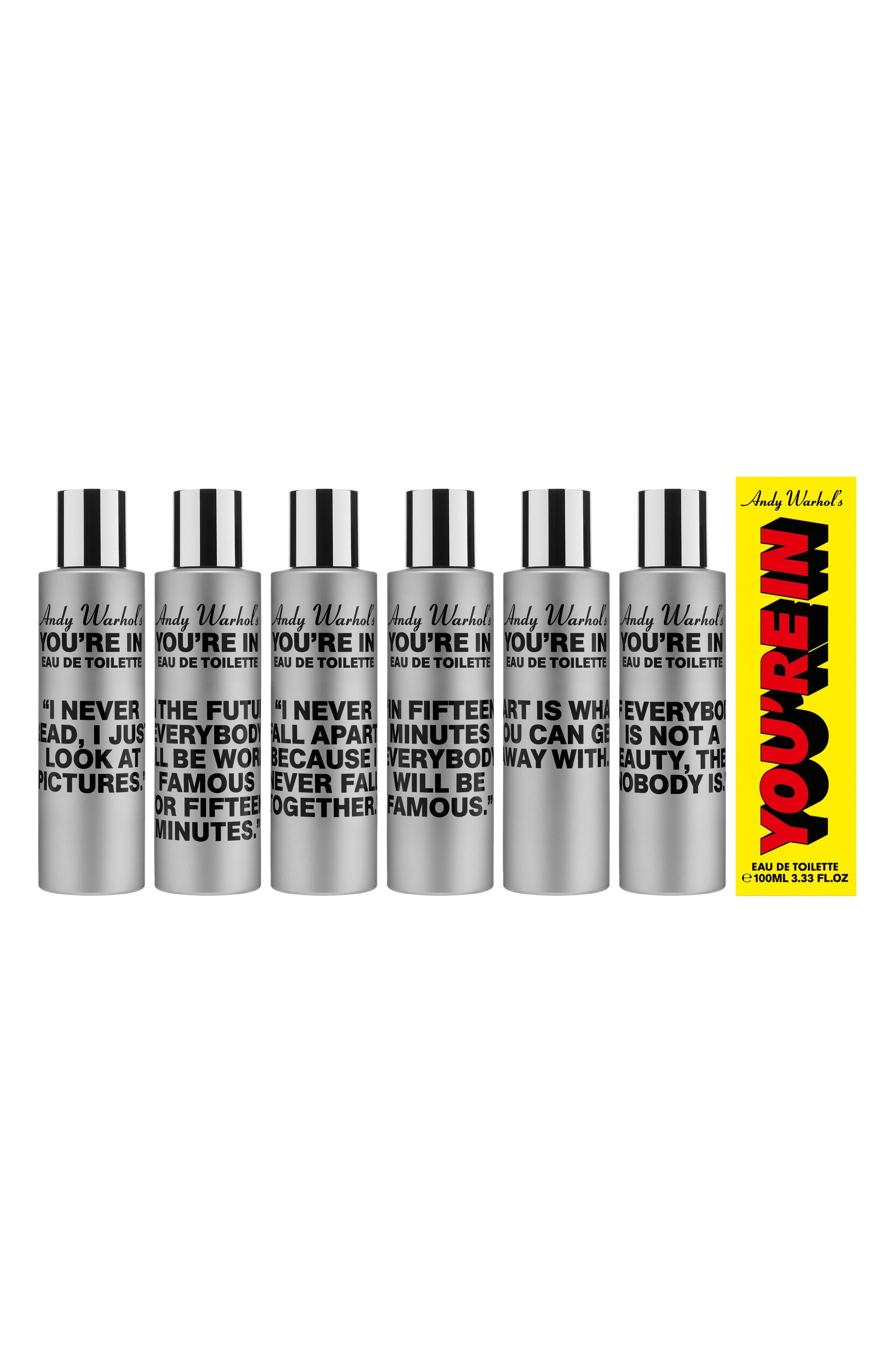 Andy Warhol You're In Unisex Eau de Toilette,                             Alternate thumbnail 4, color,                             In Fifteen Minutes