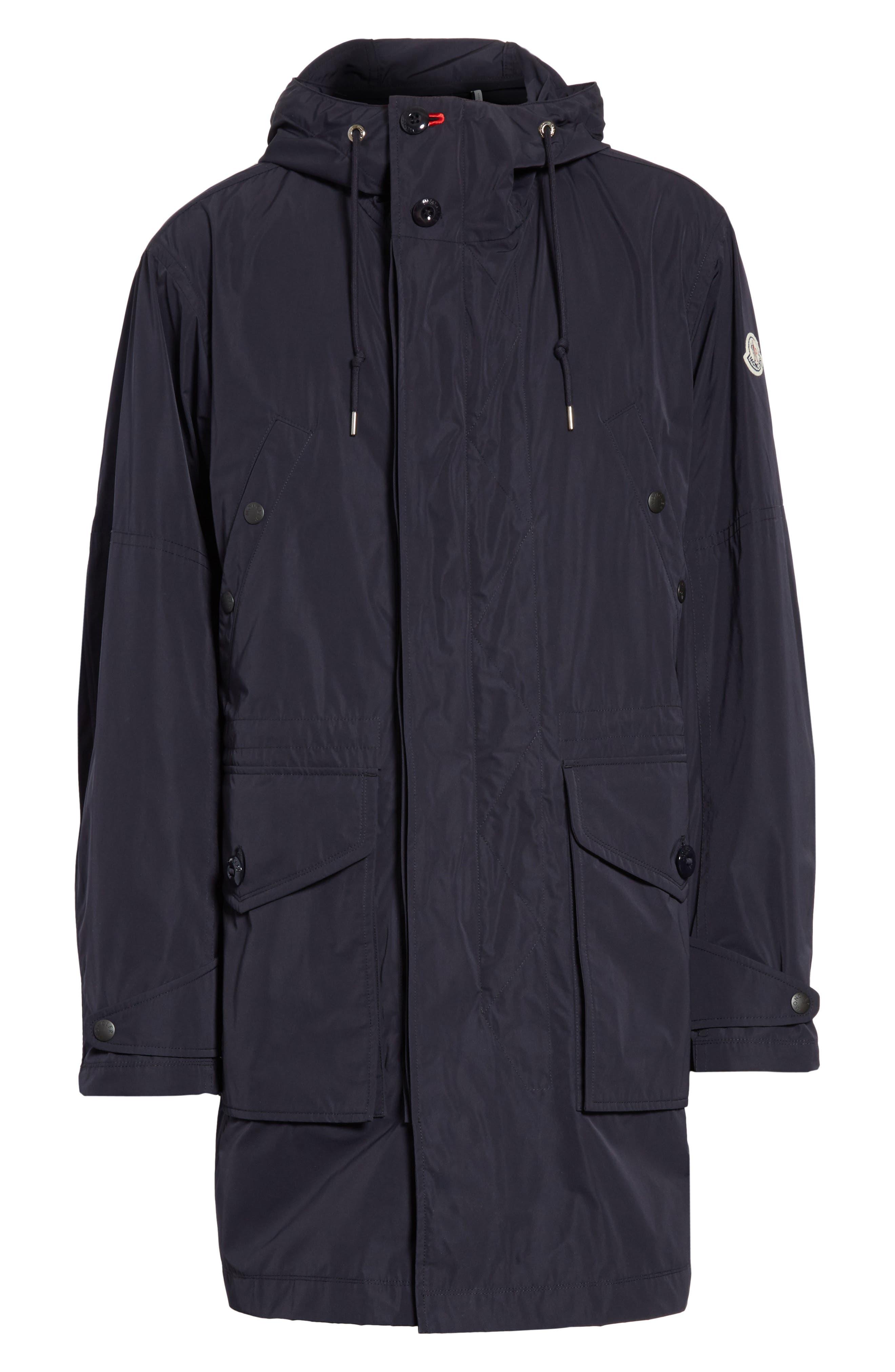 Guiers Long Raincoat,                             Alternate thumbnail 6, color,                             Navy