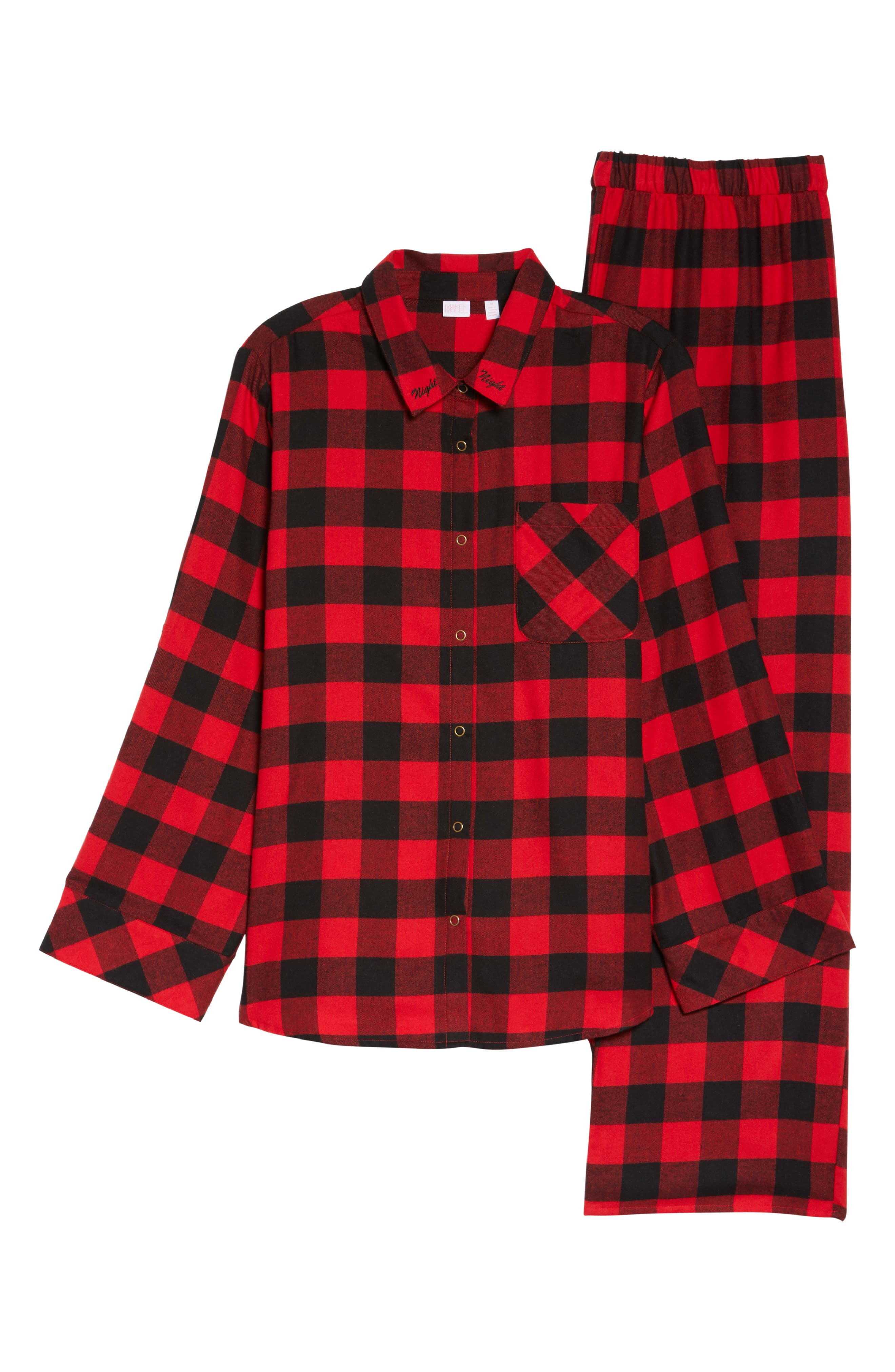 Flannel Pajamas,                             Alternate thumbnail 5, color,                             Red Pepper Buffalo Check