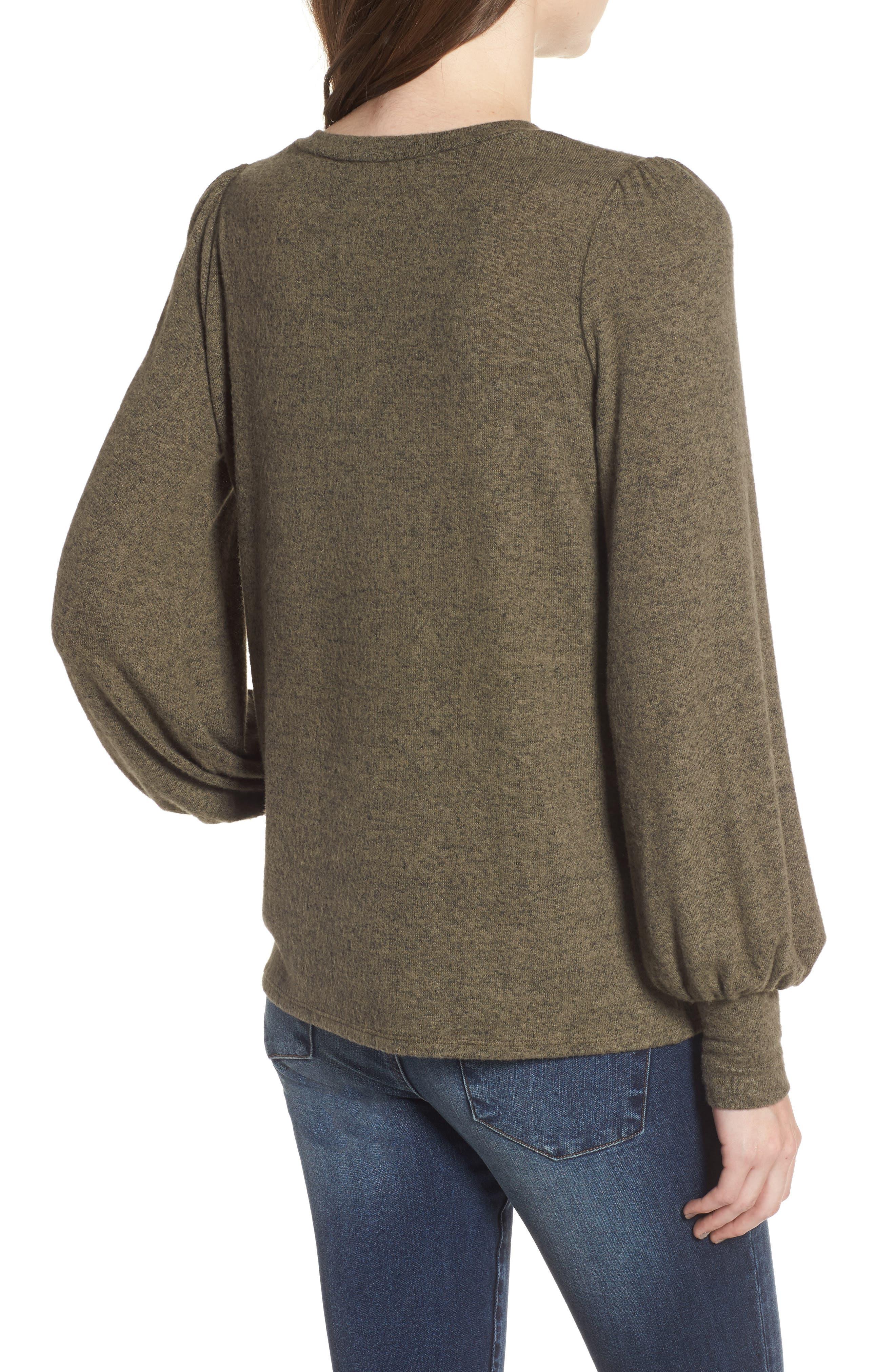 Bell Sleeve Pullover,                             Alternate thumbnail 2, color,                             Green