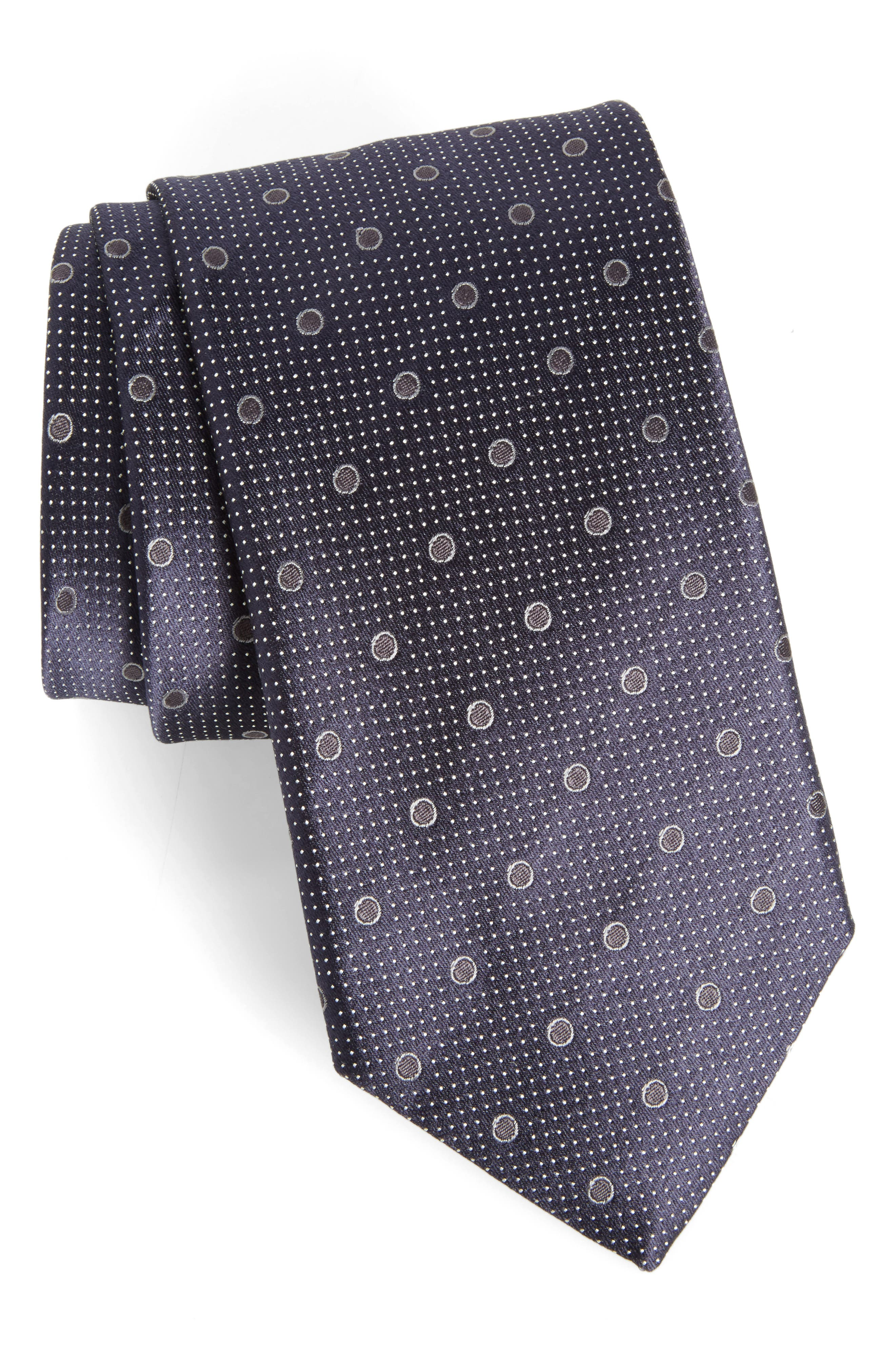 Alternate Image 1 Selected - Canali Dot Silk Tie
