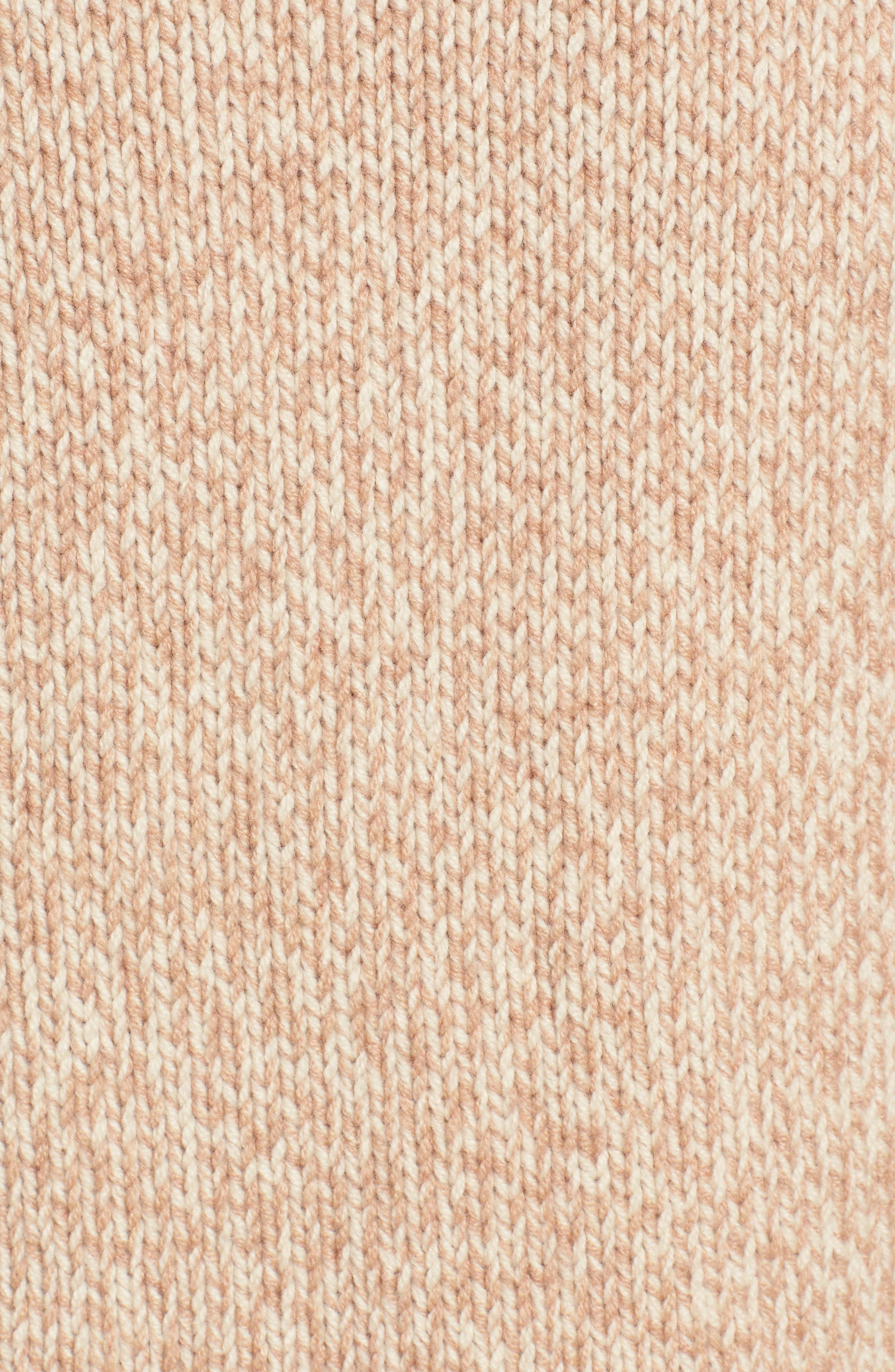 Marled Sleeveless Turtleneck Sweater,                             Alternate thumbnail 5, color,                             Marled Voile