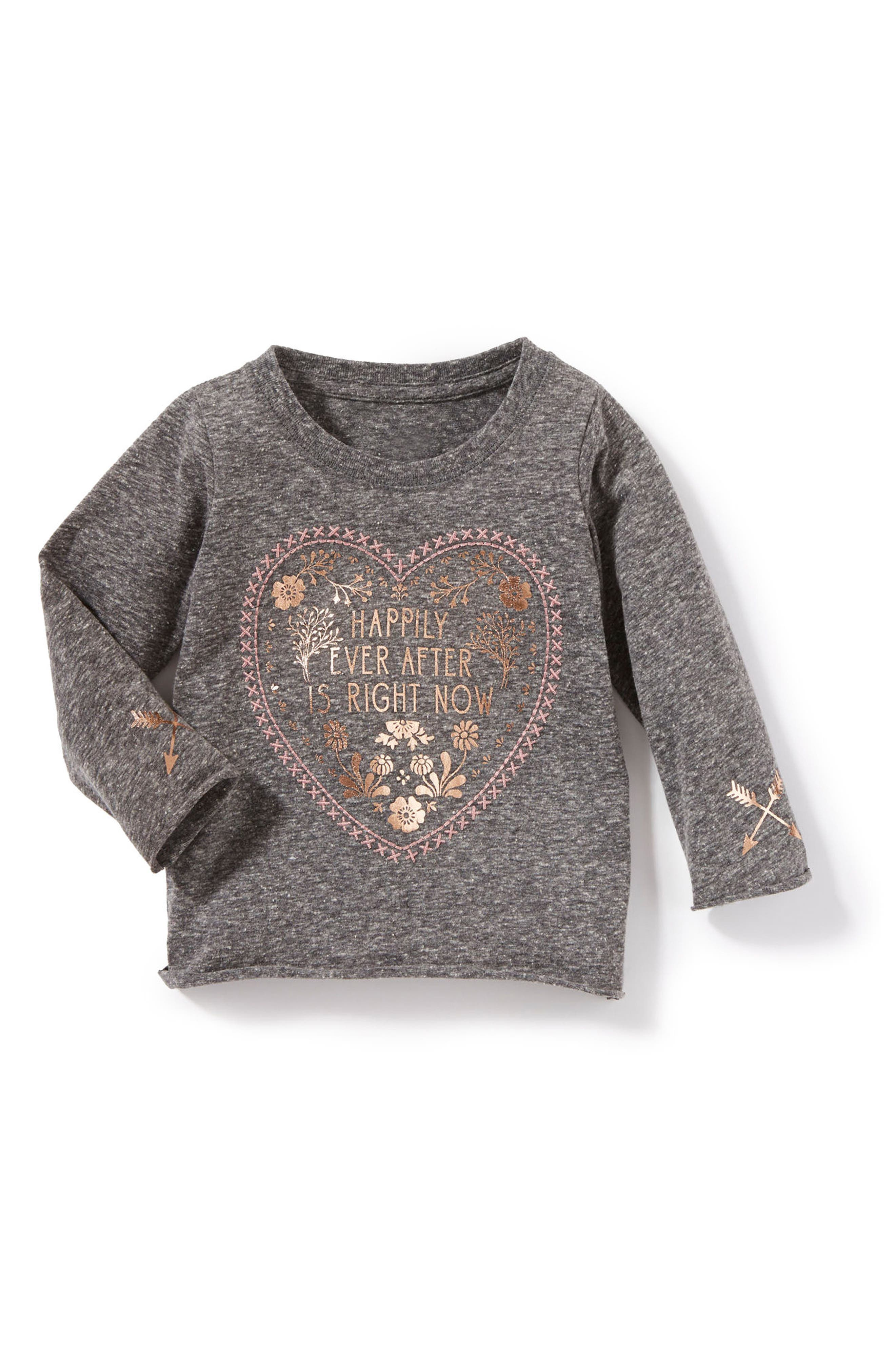Happily Ever After Graphic Tee,                             Main thumbnail 1, color,                             Heather Grey