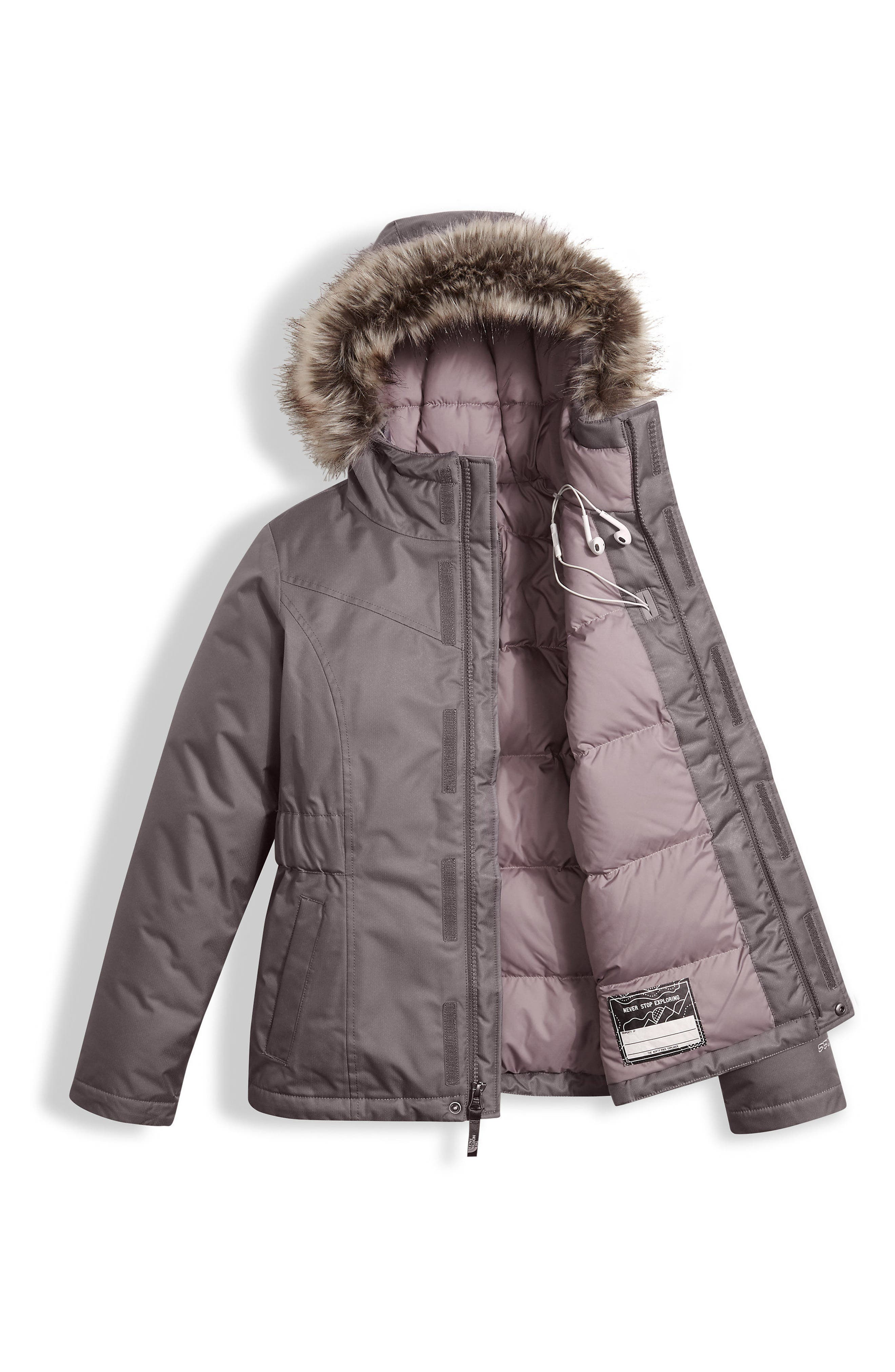Alternate Image 3  - The North Face Greenland Waterproof 550-Fill Down Jacket (Little Girls & Big Girls)