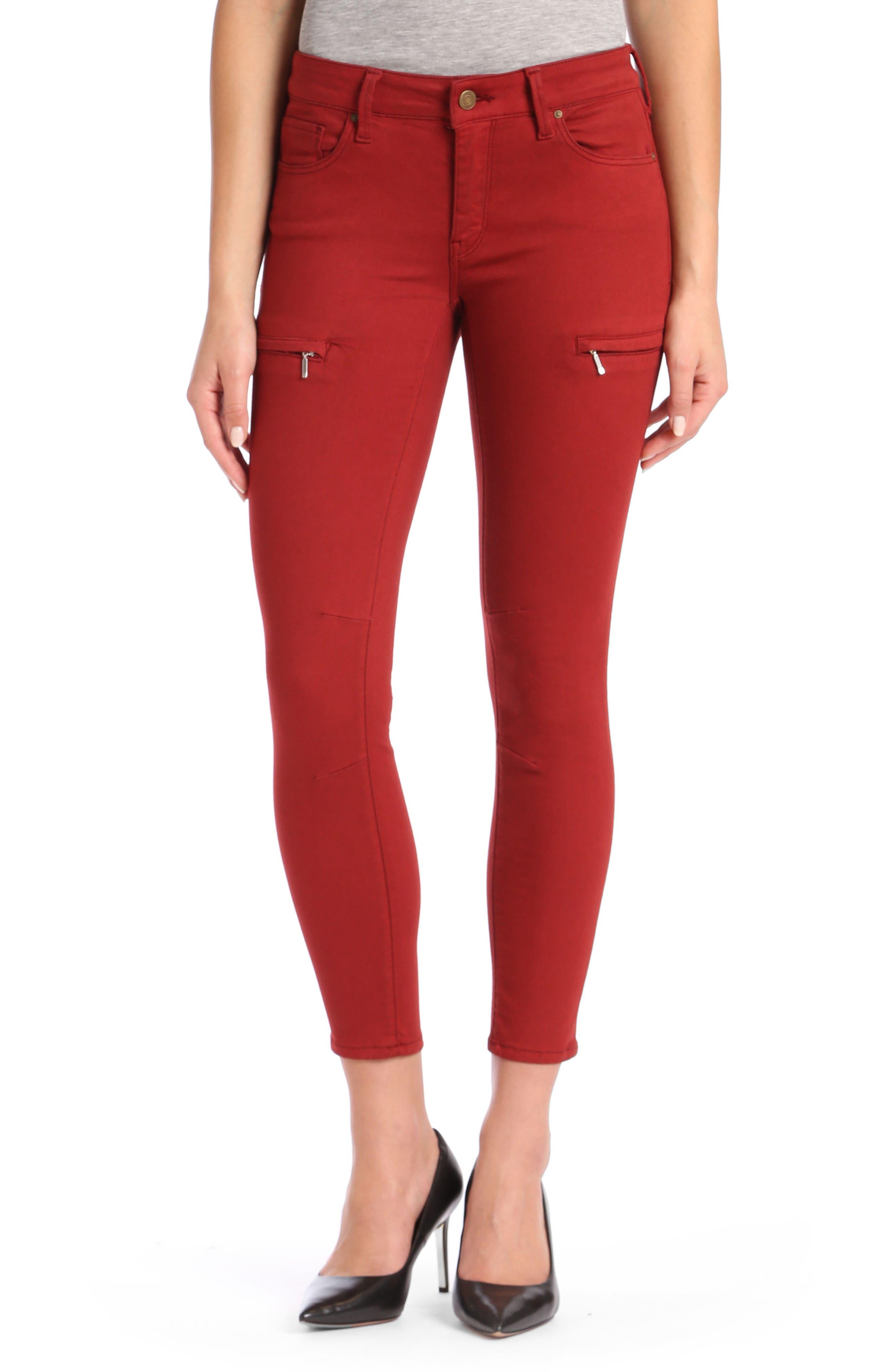 Main Image - Mavi Karlina Skinny Cargo Jeans (Brick Twill)