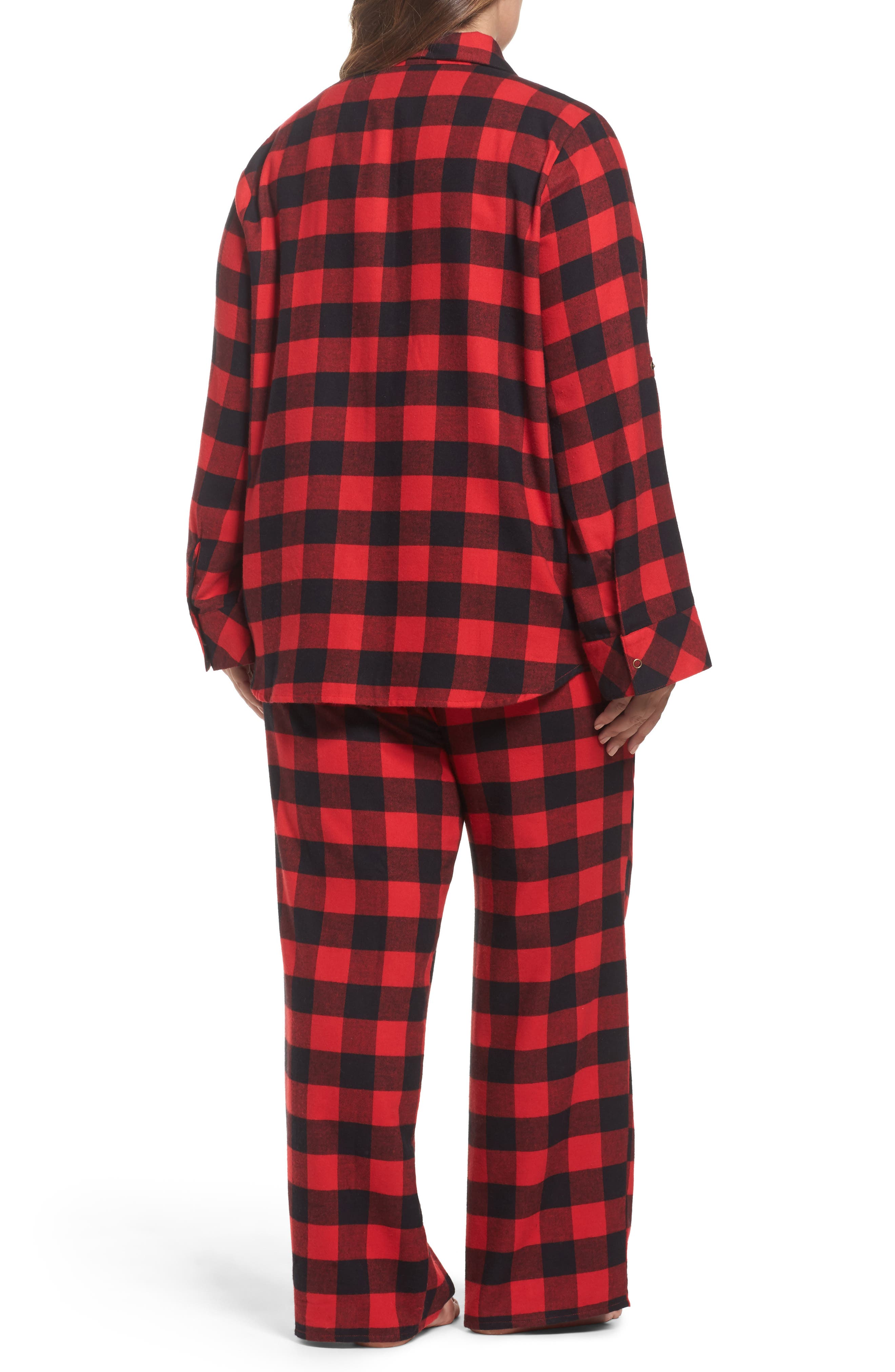 Flannel Pajamas,                             Alternate thumbnail 2, color,                             Red Pepper Buffalo Check