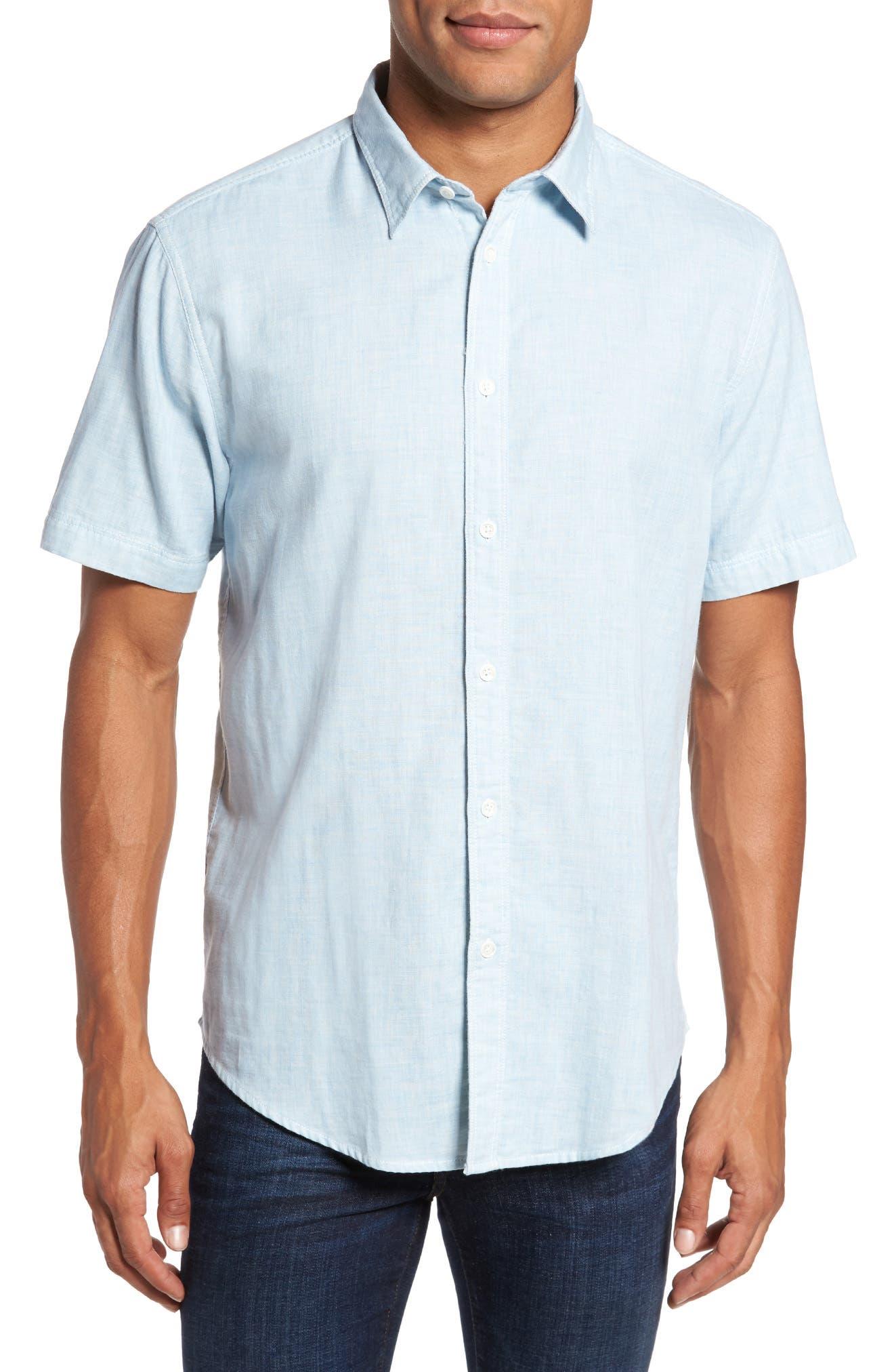 Encinitas Regular Fit Sport Shirt,                         Main,                         color, Sky