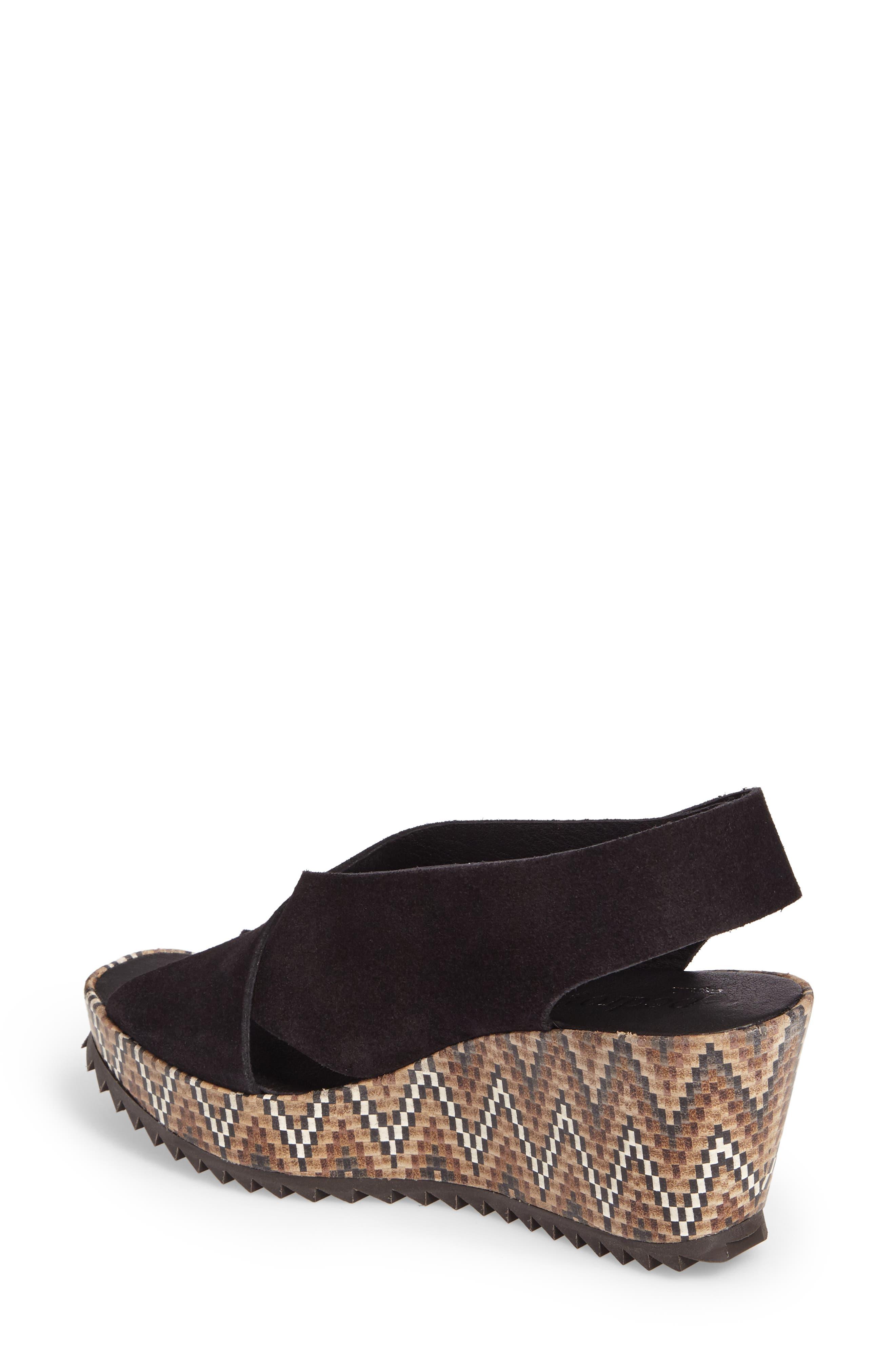 'Federica' Wedge Sandal,                             Alternate thumbnail 2, color,                             Black Castoro