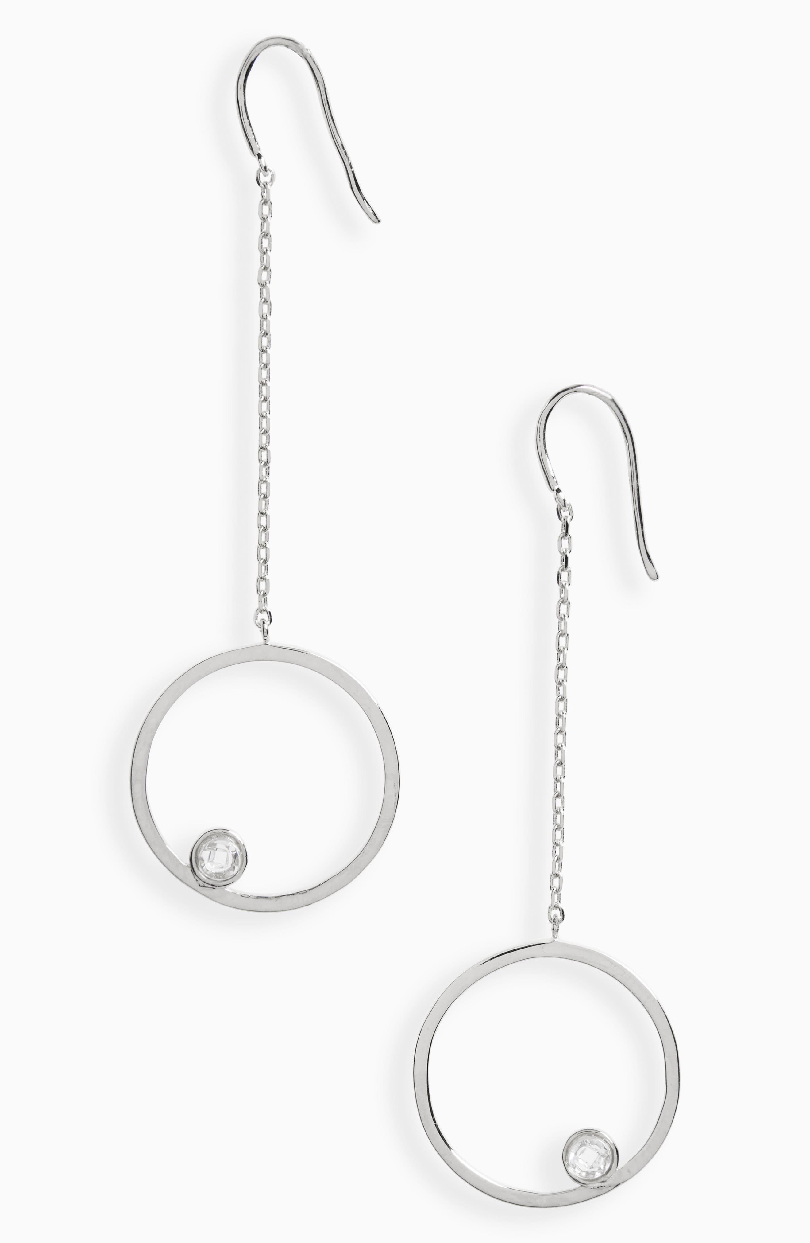 Kelly Drop Earrings,                             Main thumbnail 1, color,                             Silver