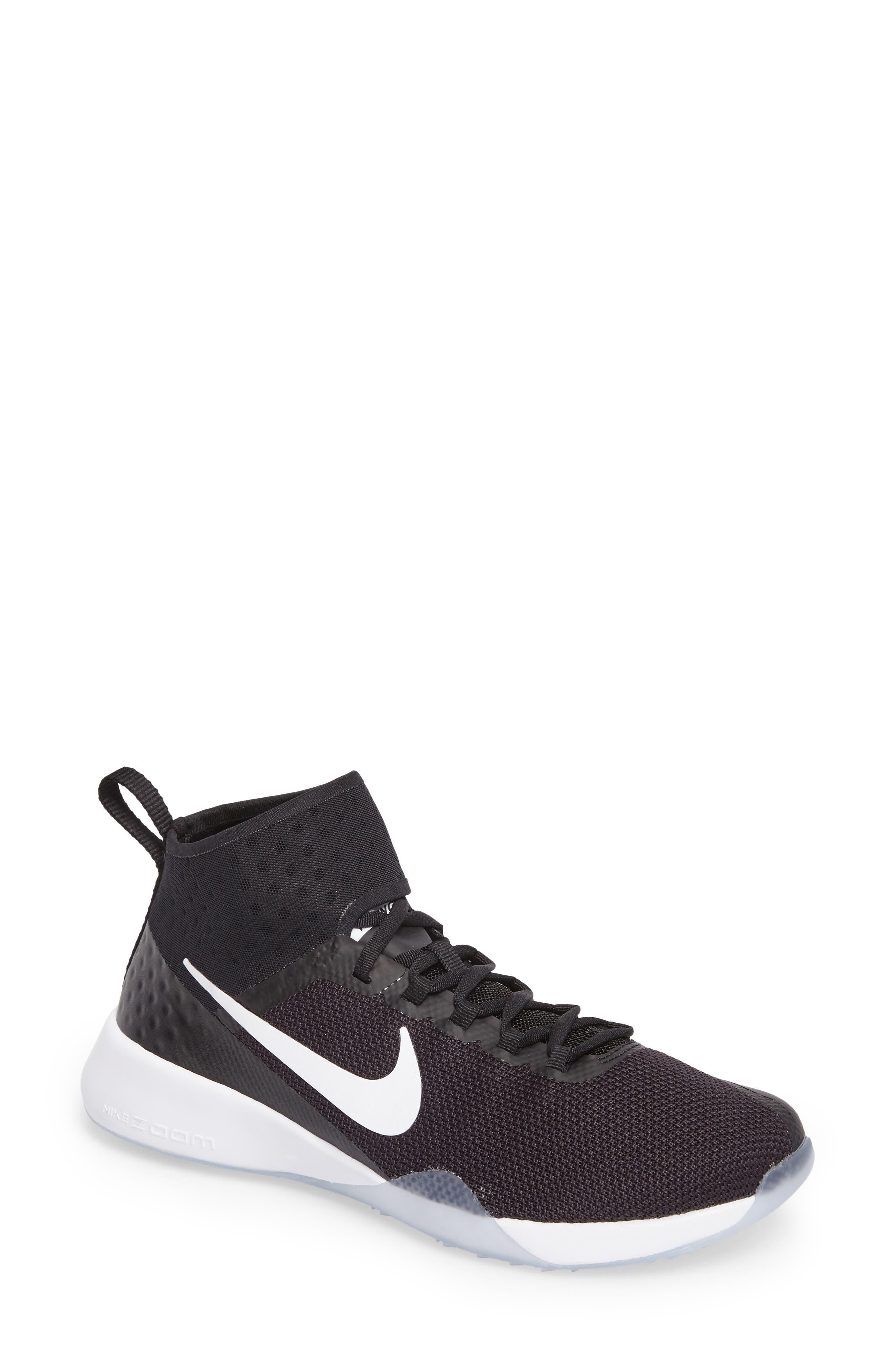 NikeLab Air Zoom Strong 2 Training Shoe,                             Main thumbnail 1, color,                             Black/ White