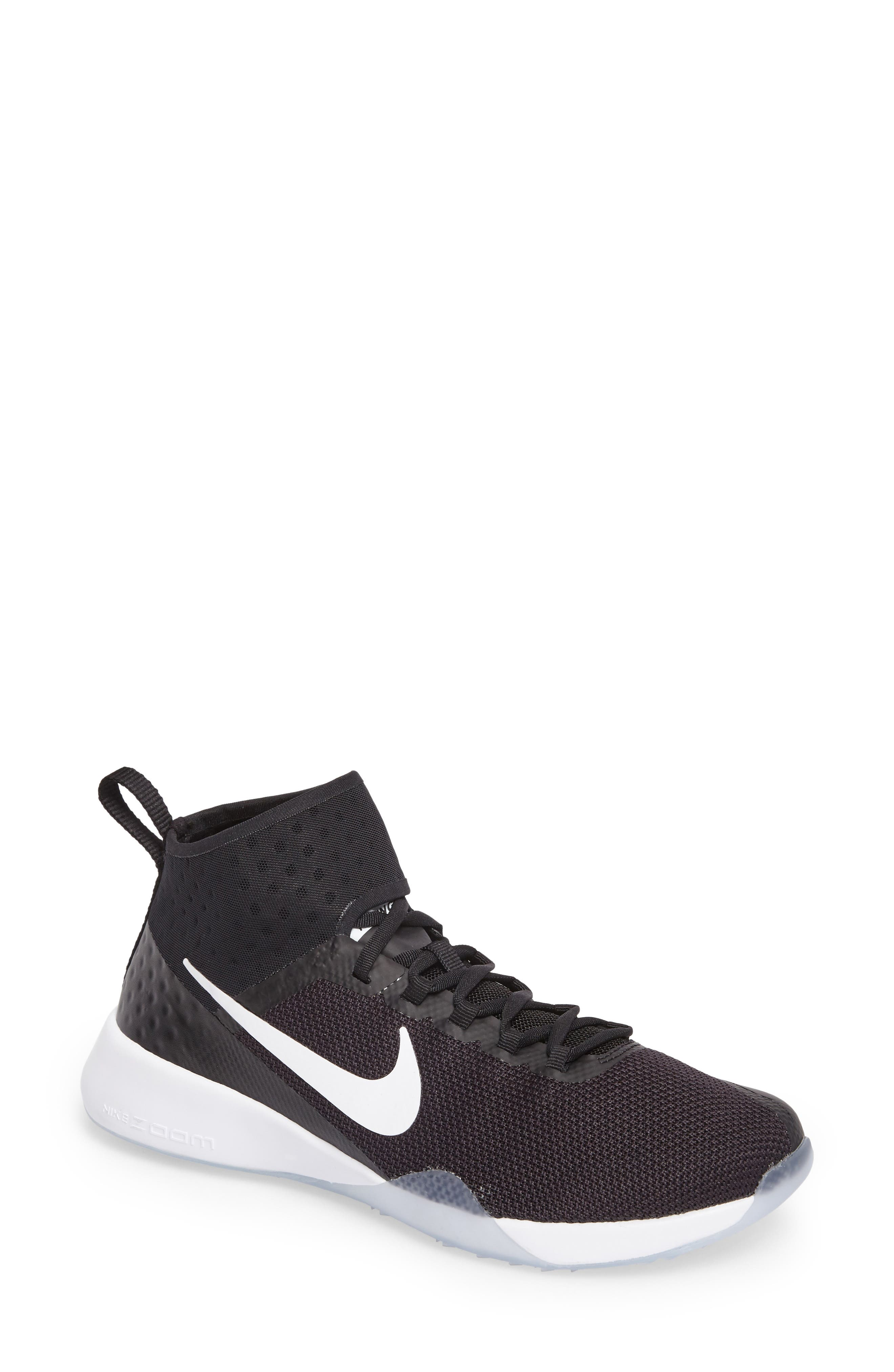 NikeLab Air Zoom Strong 2 Training Shoe,                         Main,                         color, Black/ White