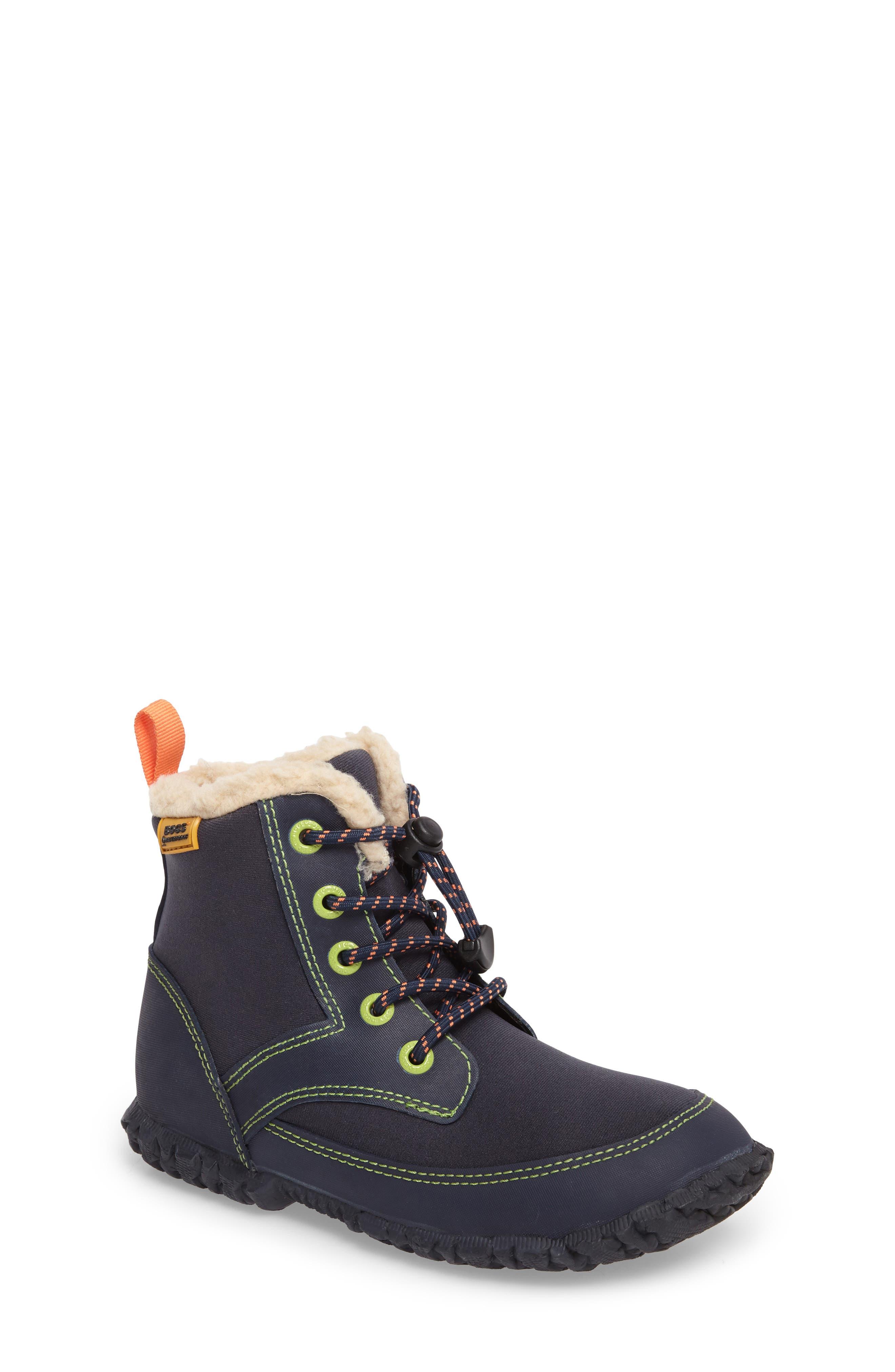 Skyler Faux Fur Insulated Waterproof Boot,                             Main thumbnail 1, color,                             Dark Blue Multi