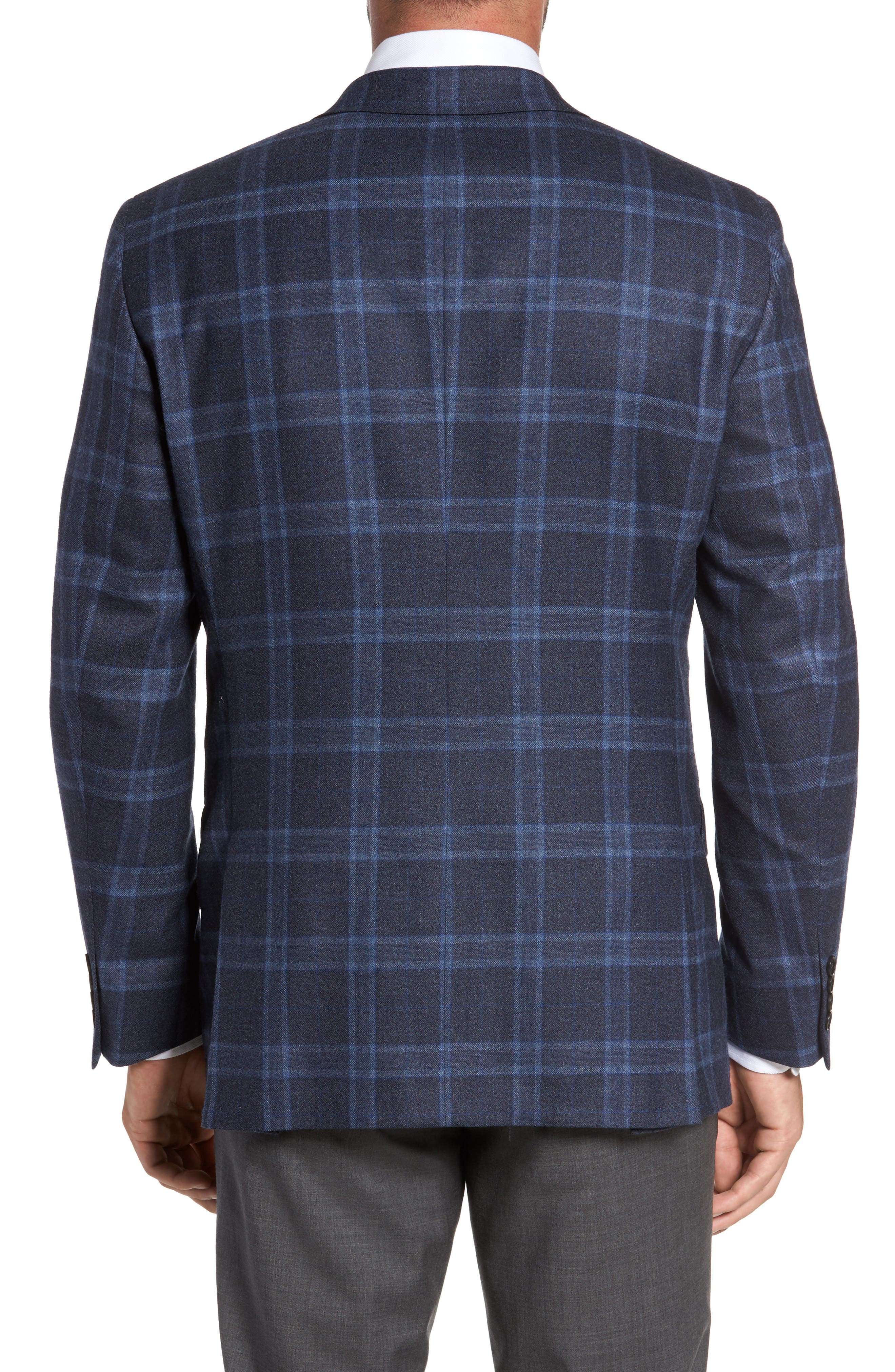 Alternate Image 2  - Hart Schaffner Marx Classic Fit Plaid Wool Sport Coat