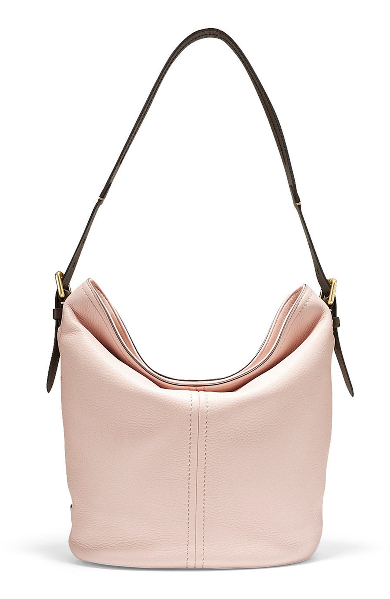 Cole Haan Loralie Pebbled Leather Bucket Hobo