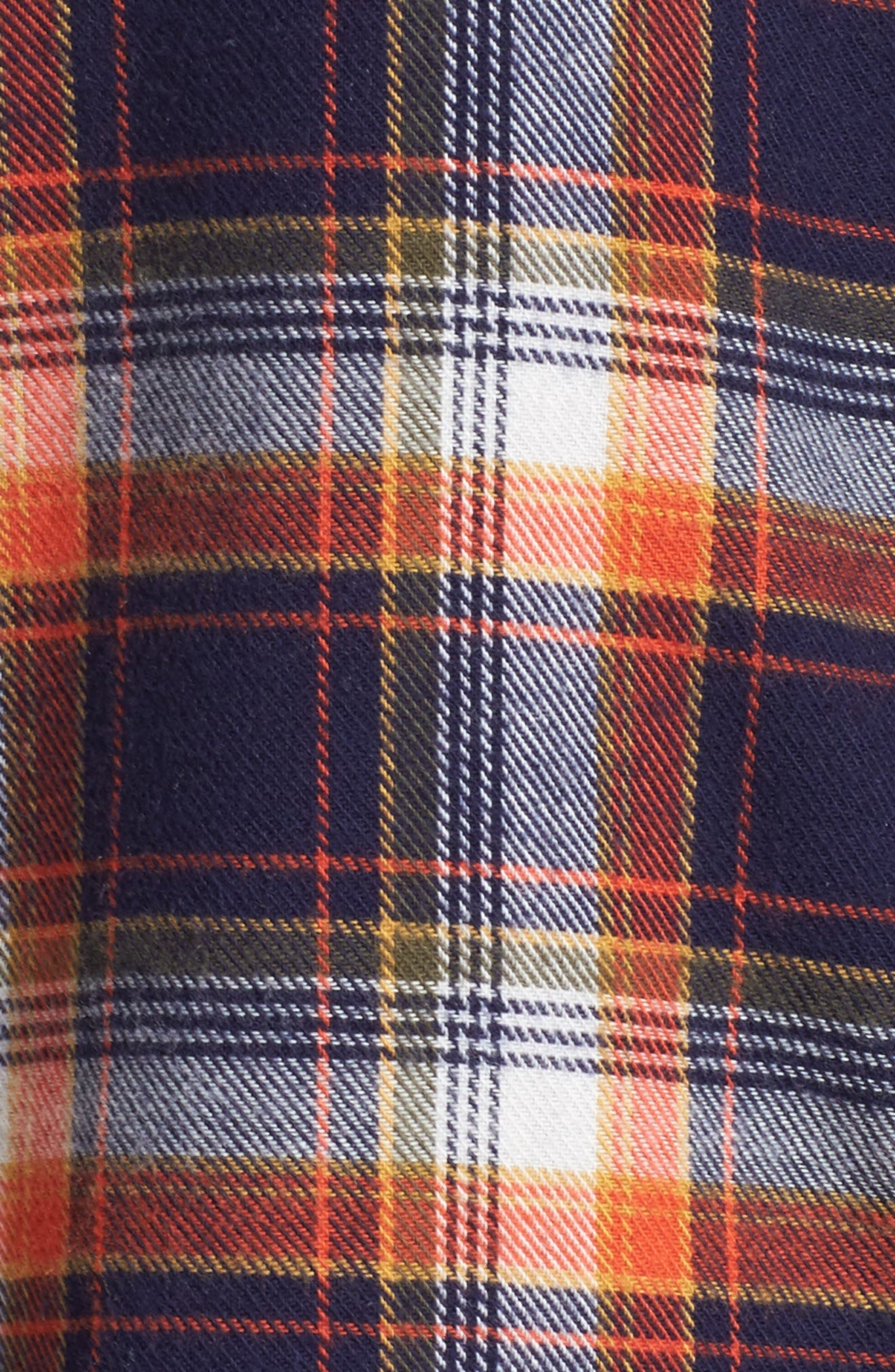 Flannel Nightshirt,                             Alternate thumbnail 6, color,                             Navy Dusk Preppy Plaid