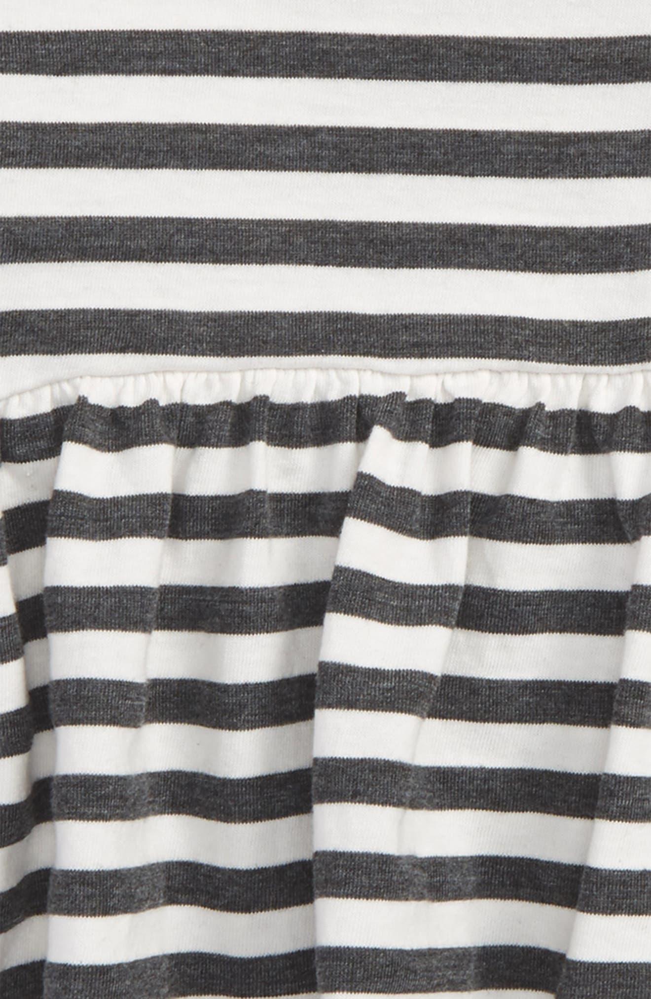 Alternate Image 2  - Joah Love Stripe Peplum Tee (Baby Girls)