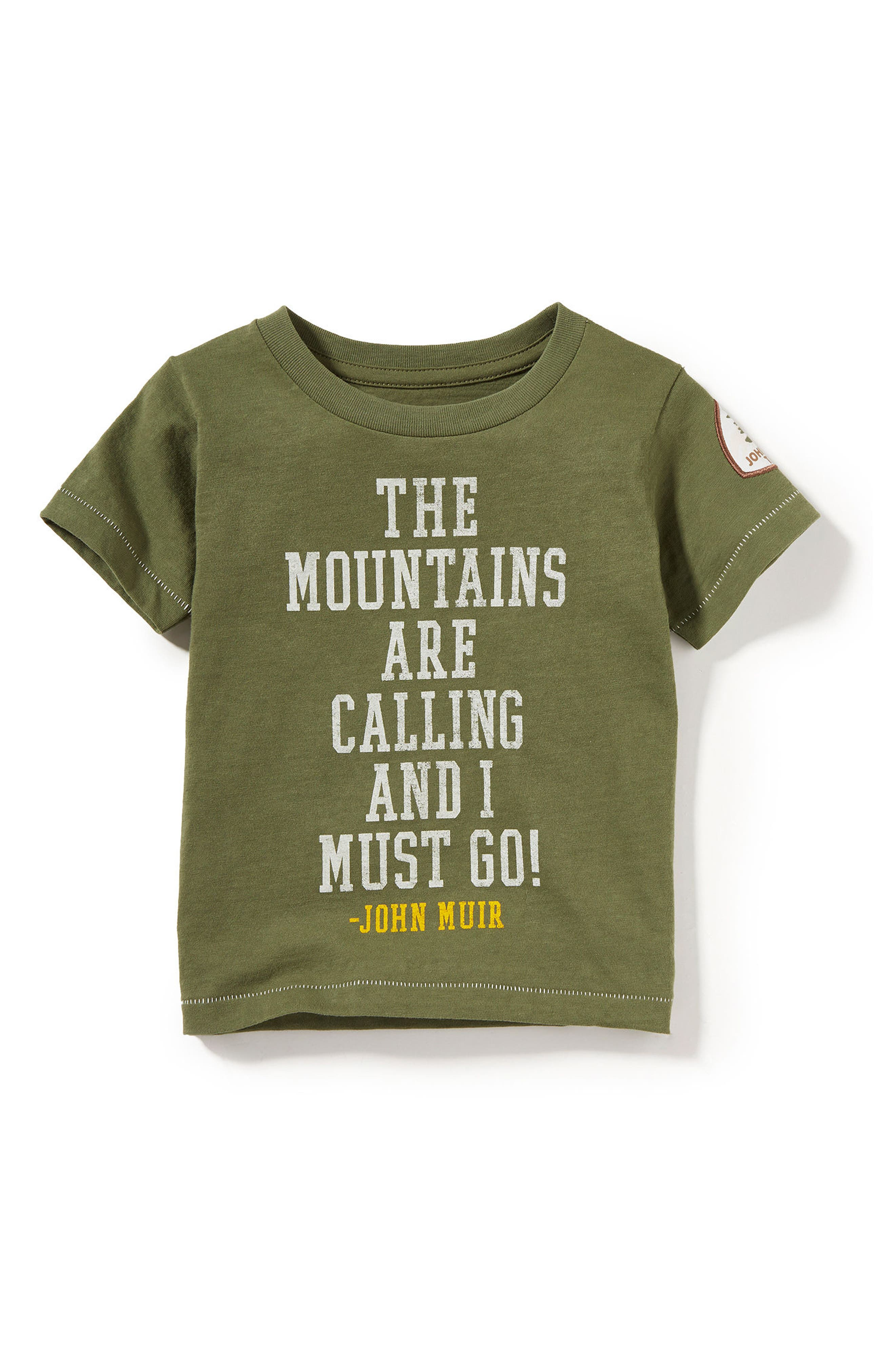 Mountain Trails Graphic T-Shirt,                         Main,                         color, Olive