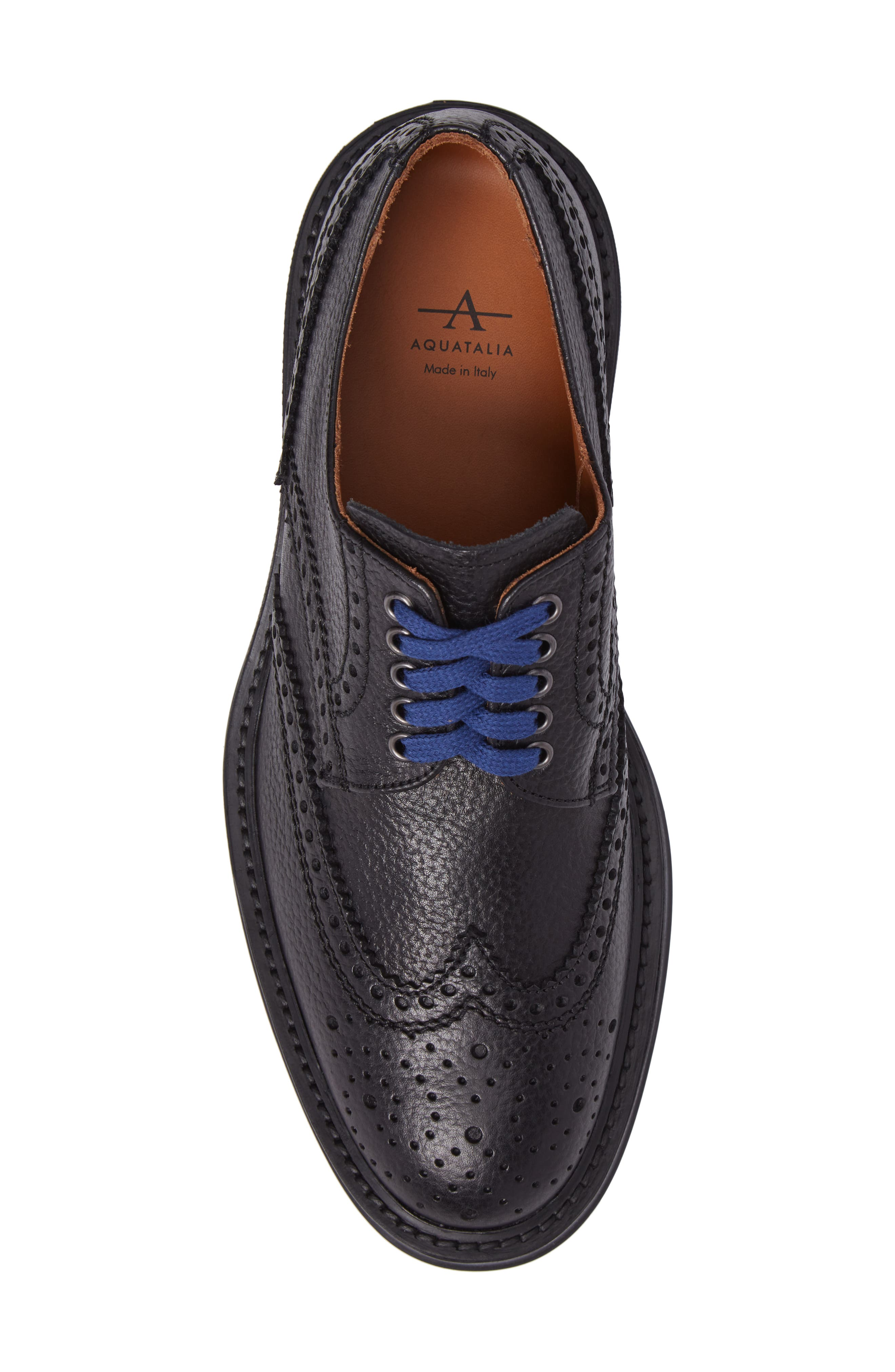 Landon Weatherproof Wingtip,                             Alternate thumbnail 5, color,                             Black