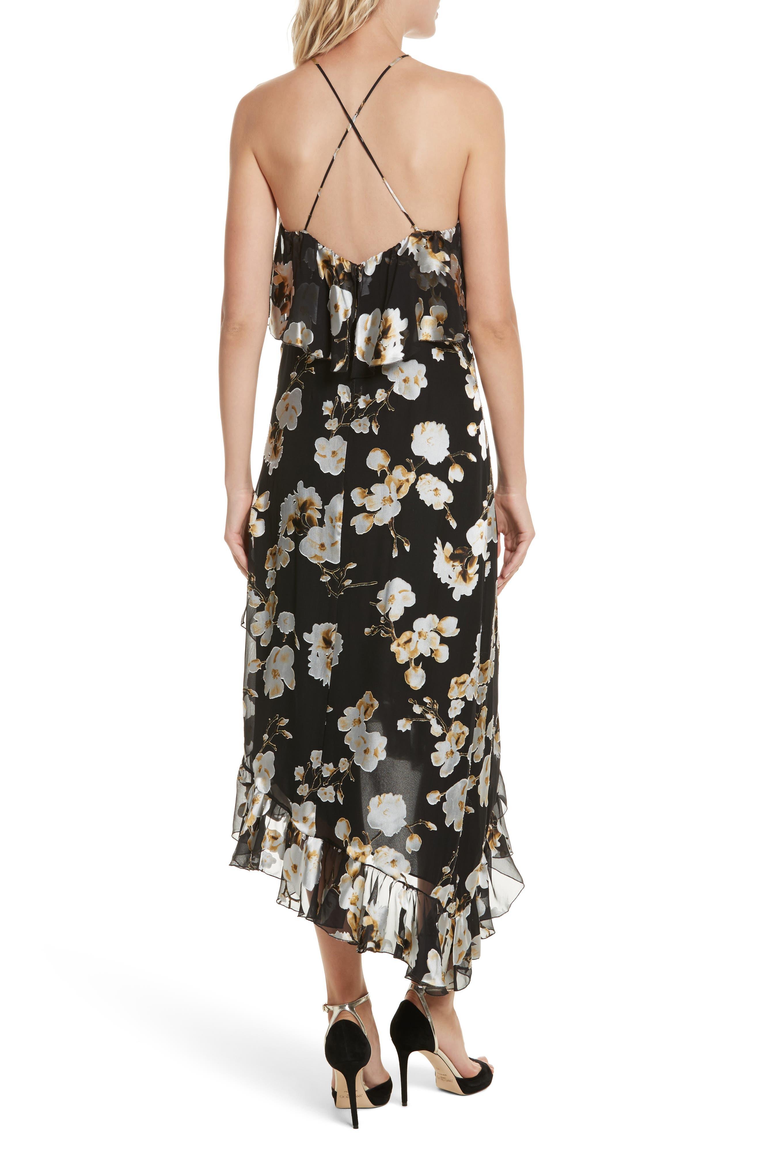 Alternate Image 2  - Alice + Olivia Fabiola Asymmetrical Ruffle A-Line Dress