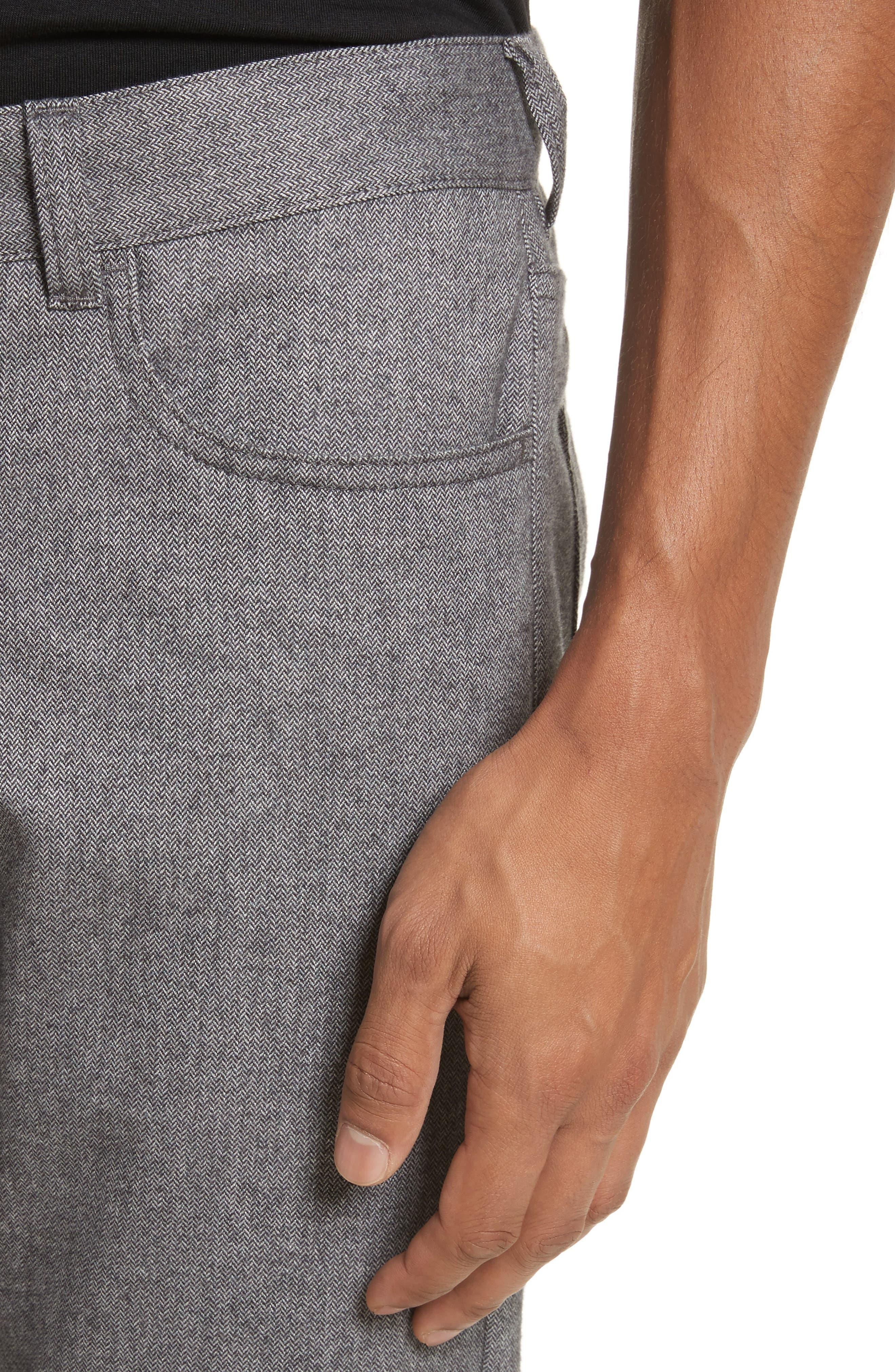Alternate Image 4  - Canali Regular Fit Herringbone 5-Pocket Pants