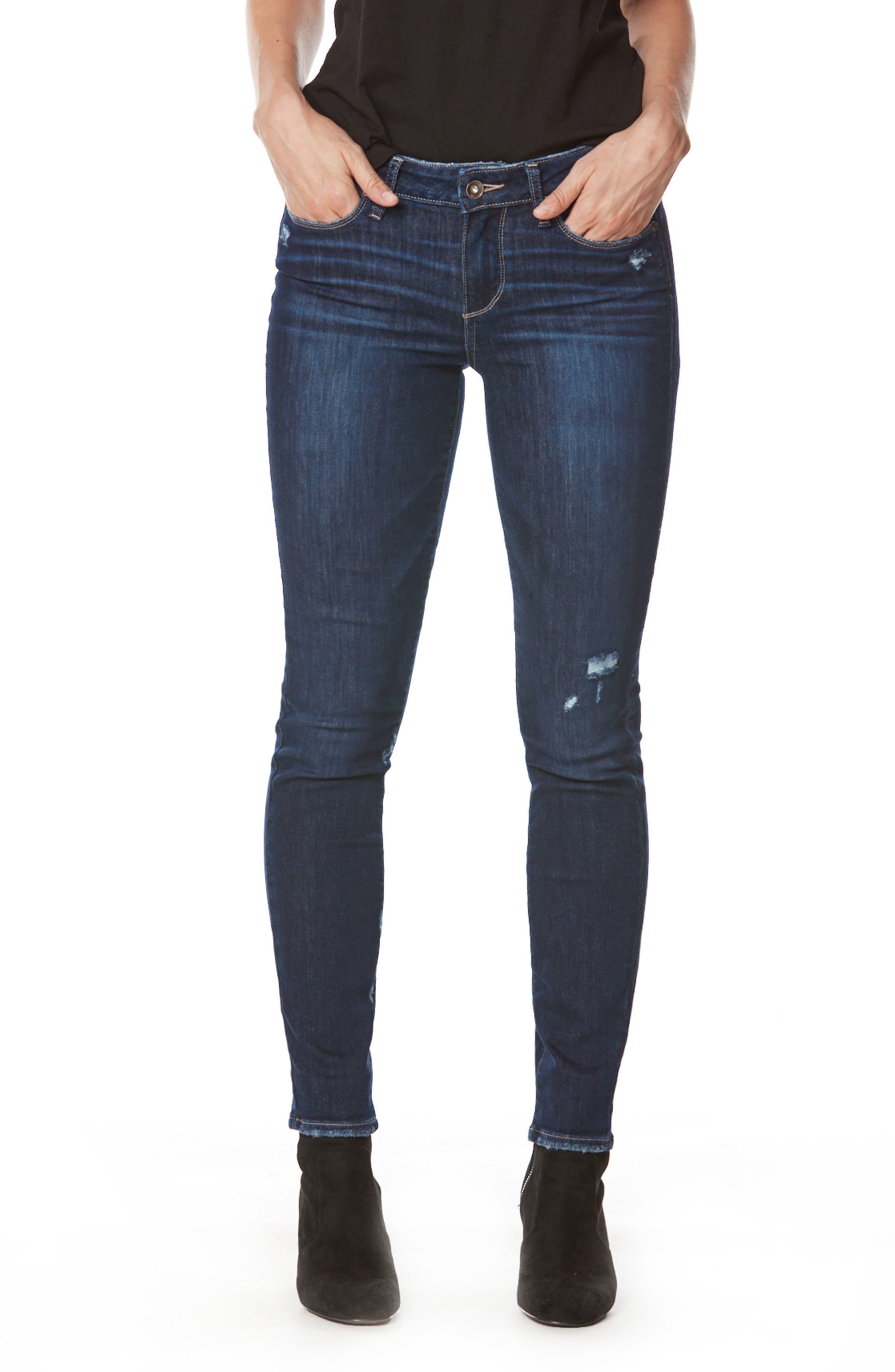 Transcend - Verdugo Ultra Skinny Jeans,                             Main thumbnail 1, color,                             Davidson Destructed