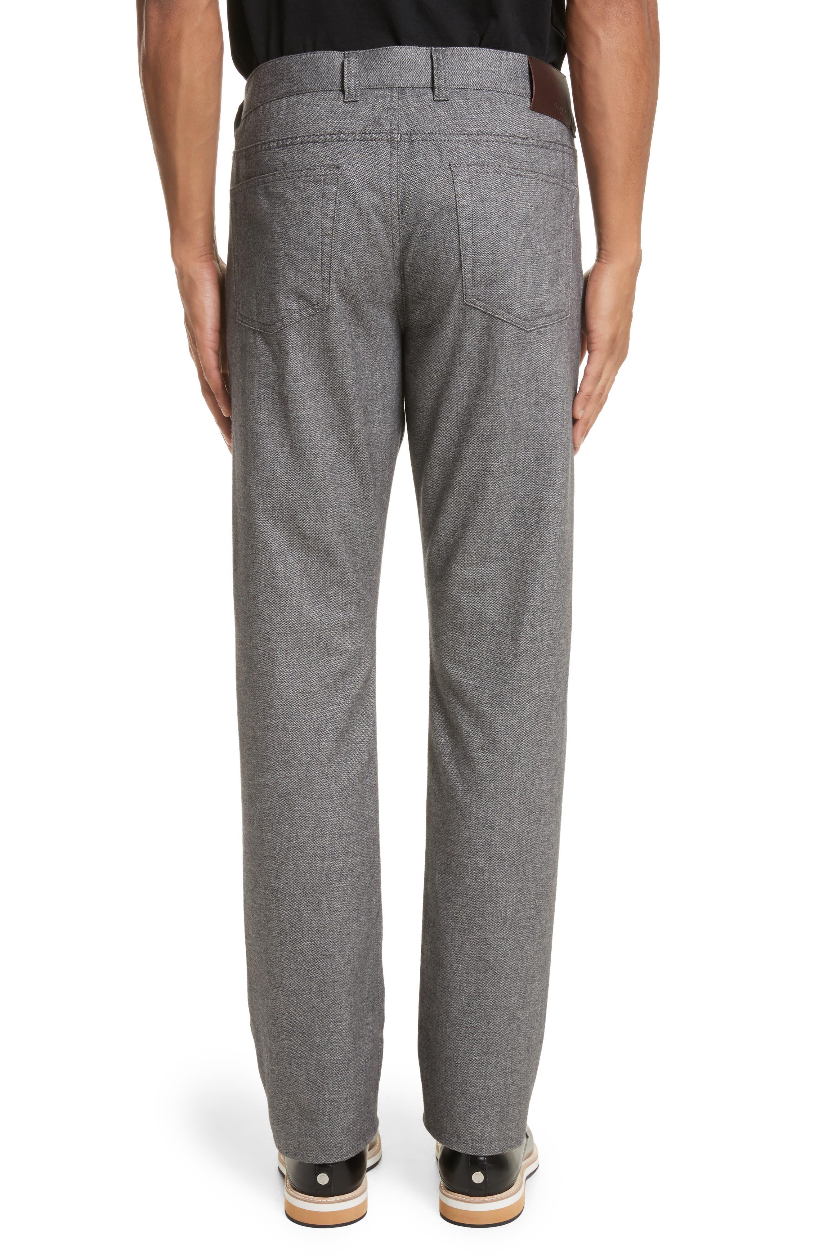 Alternate Image 2  - Canali Regular Fit Herringbone 5-Pocket Pants