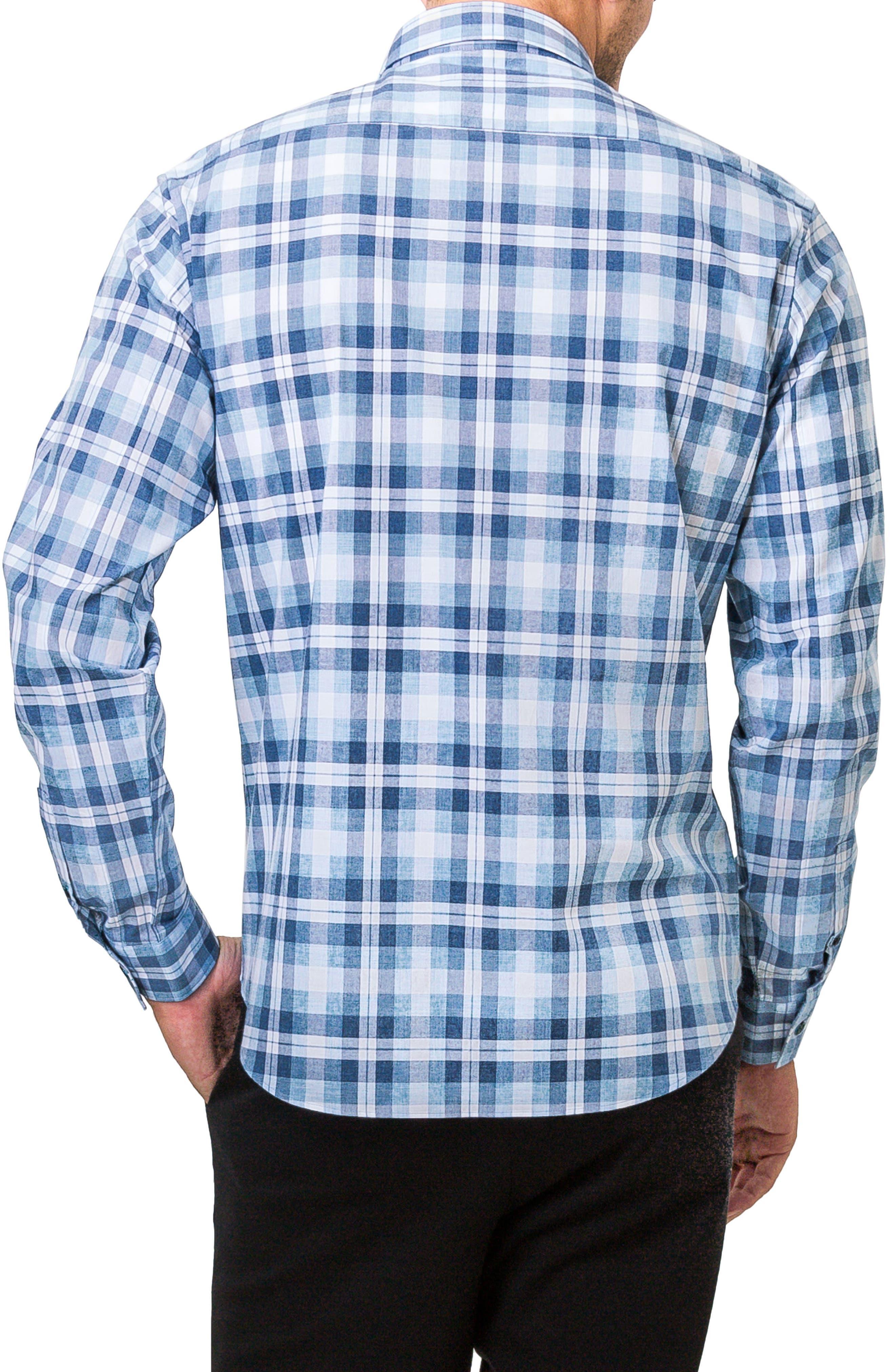 Morning Rain Woven Shirt,                             Alternate thumbnail 2, color,                             Blue