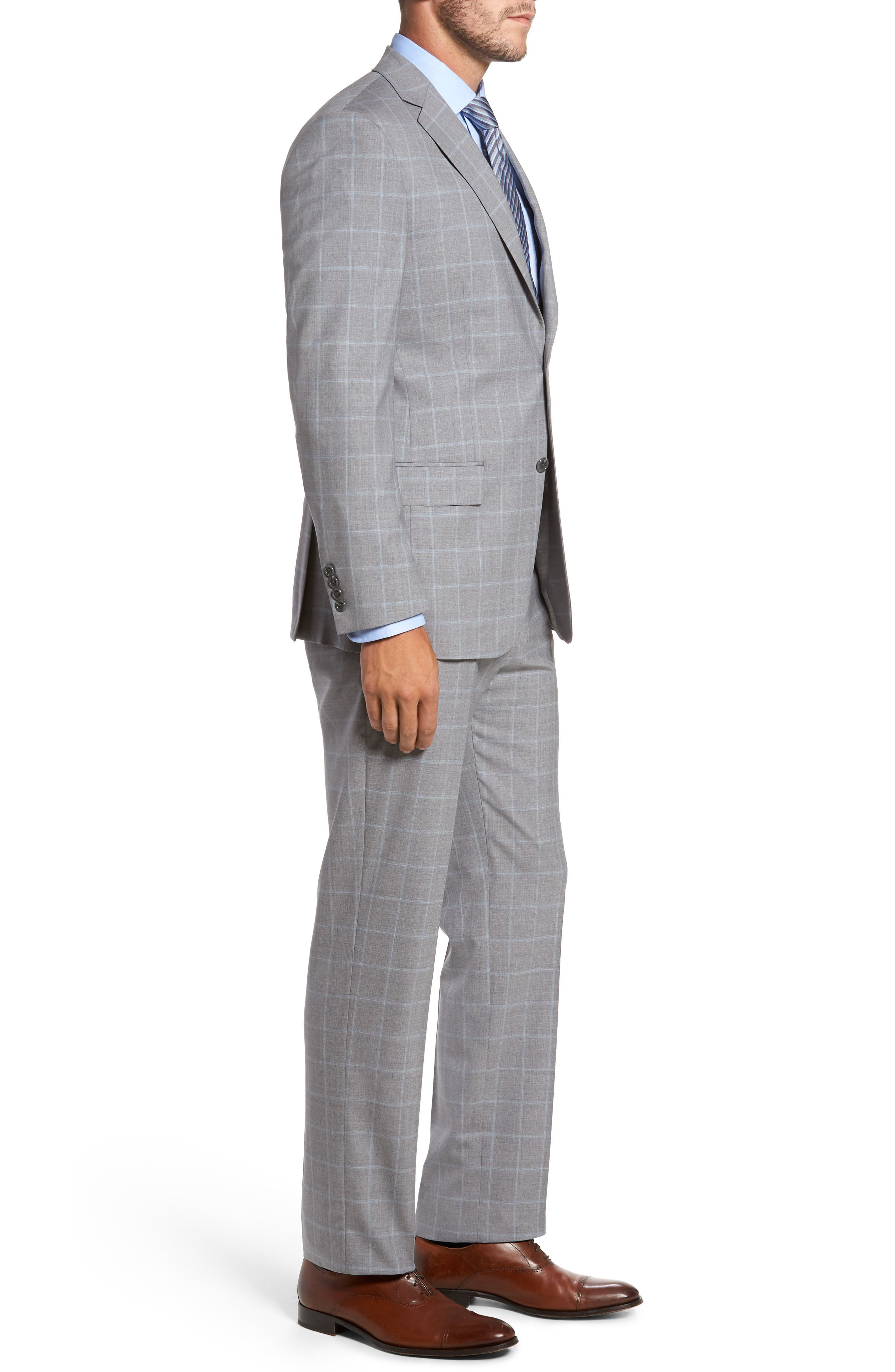 Alternate Image 3  - Hart Schaffner Marx Classic Fit Windowpane Wool Suit