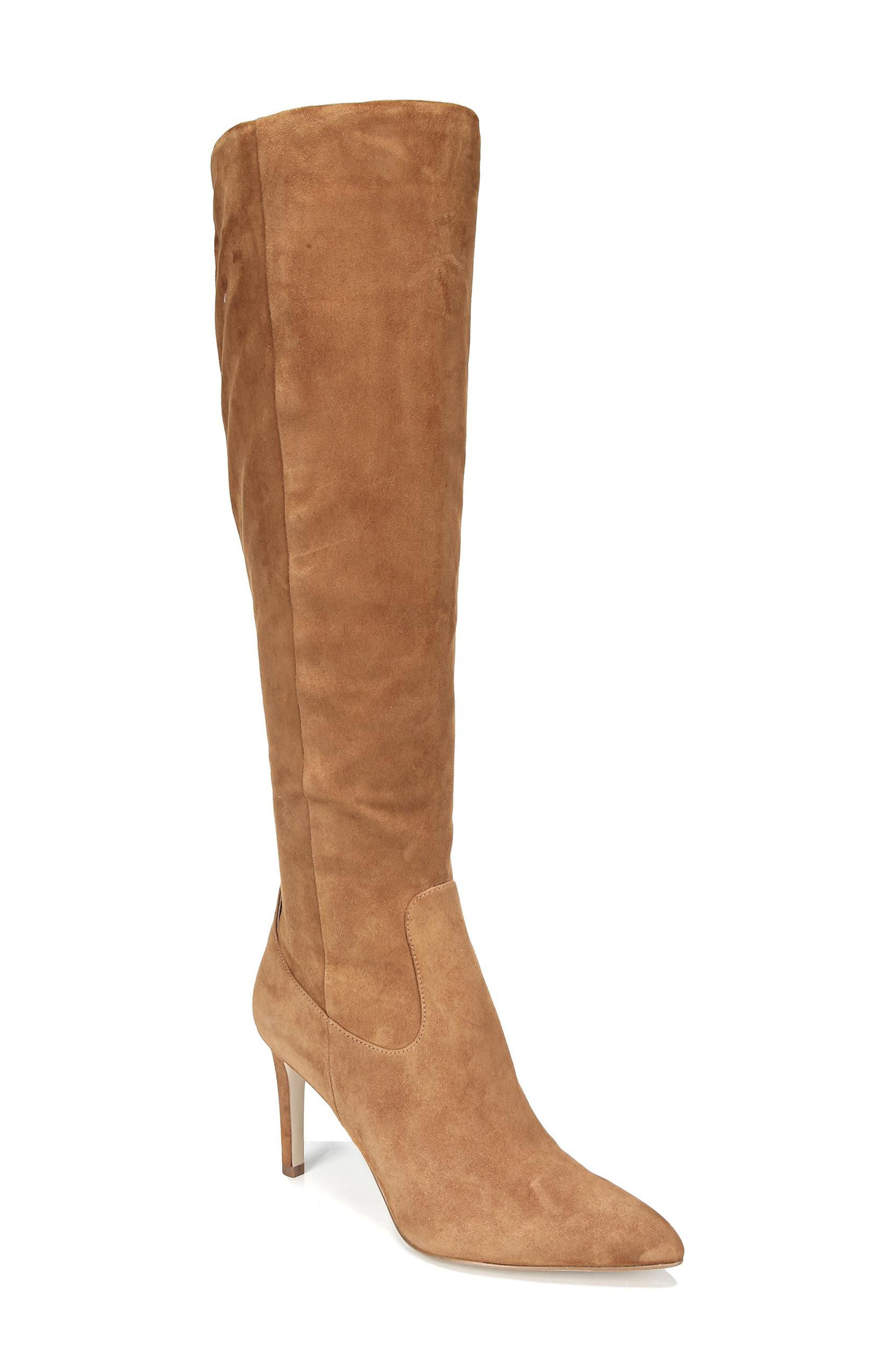 Olencia Knee High Boot,                             Main thumbnail 1, color,                             Luggage Suede