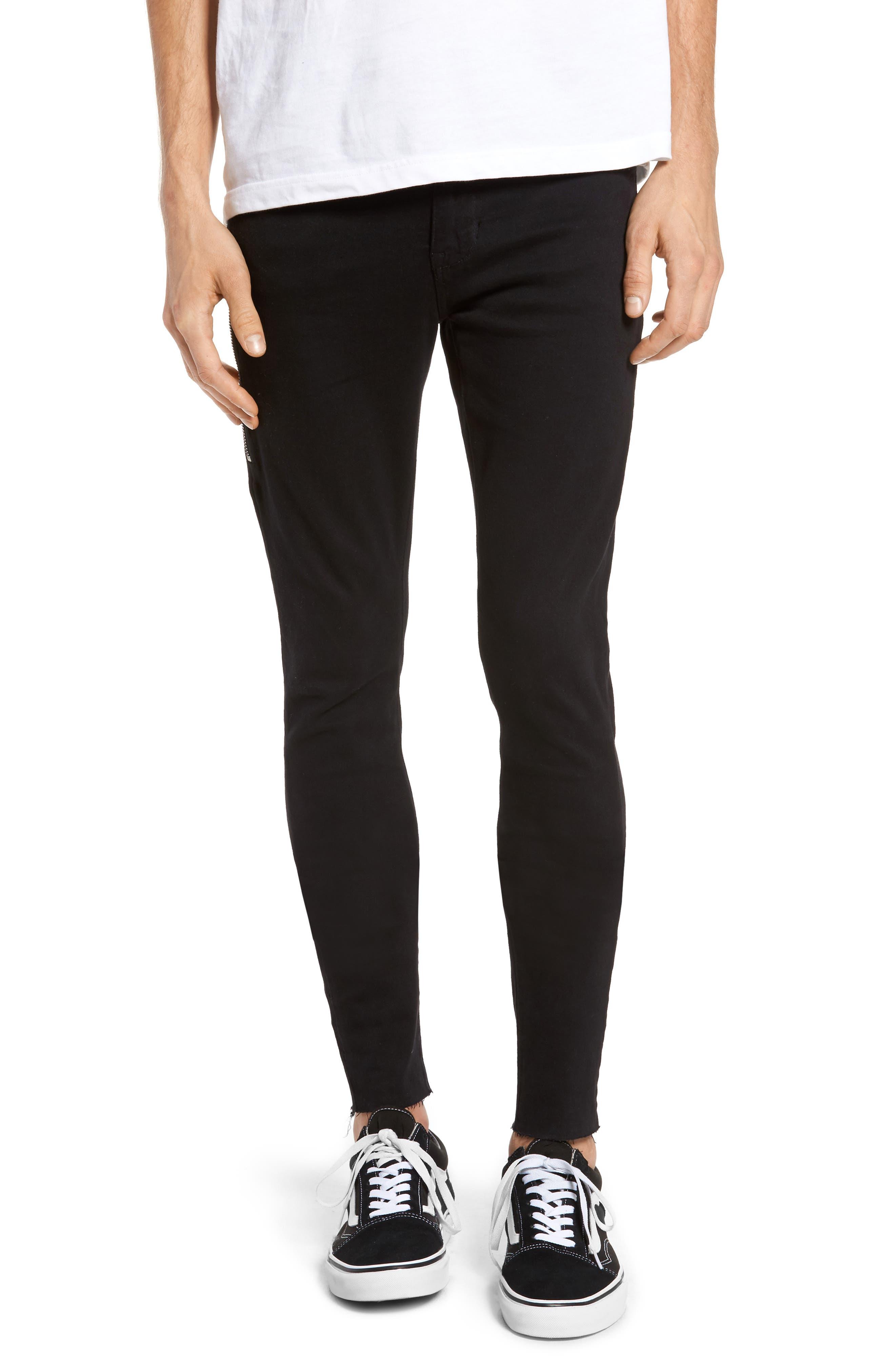 Alternate Image 1 Selected - Dr. Denim Supply Co. Leroy Skinny Fit Jeans (Black Punk)
