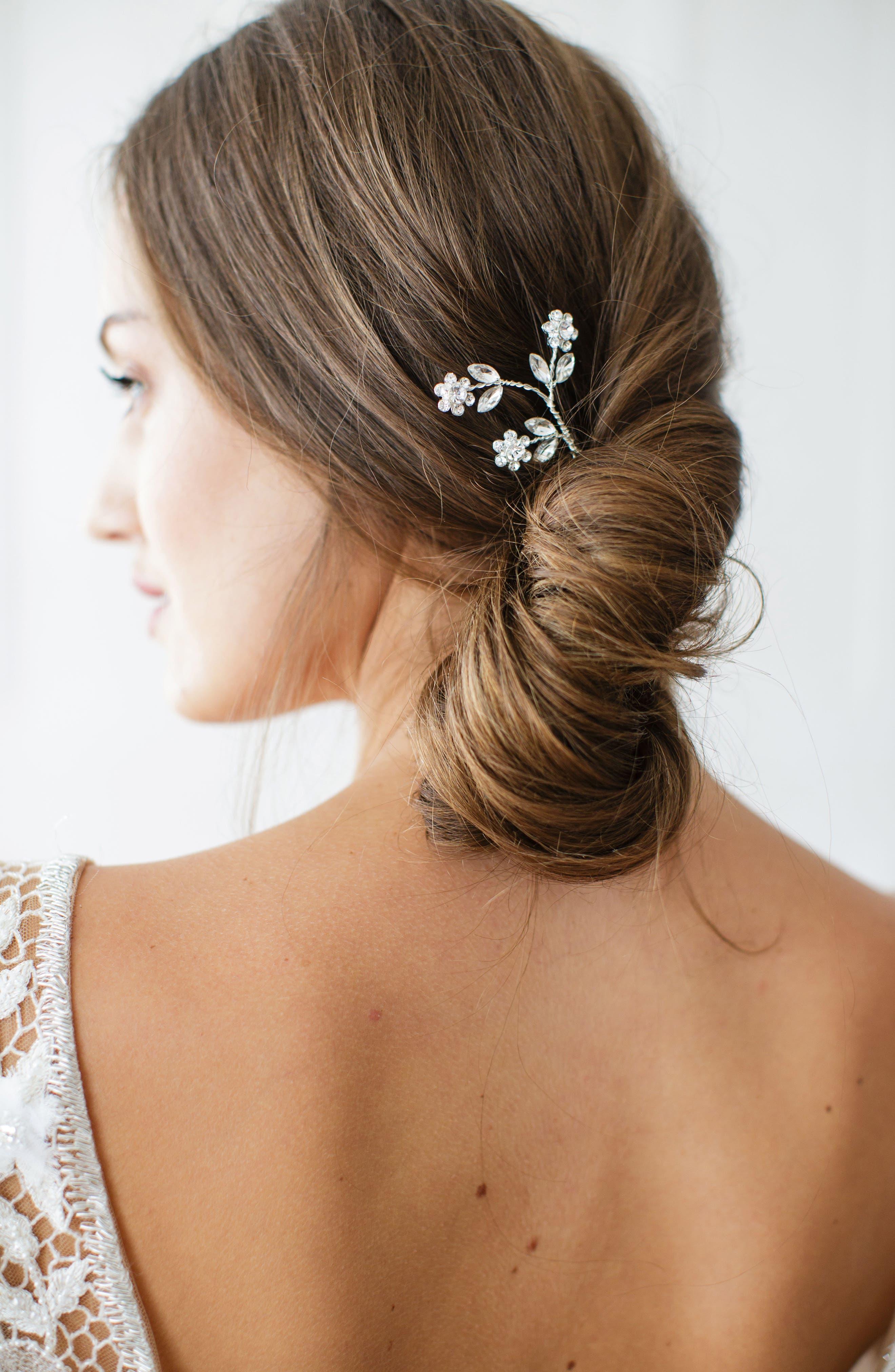 Main Image - Brides & Hairpins Ameenah Floral Crystal Pin