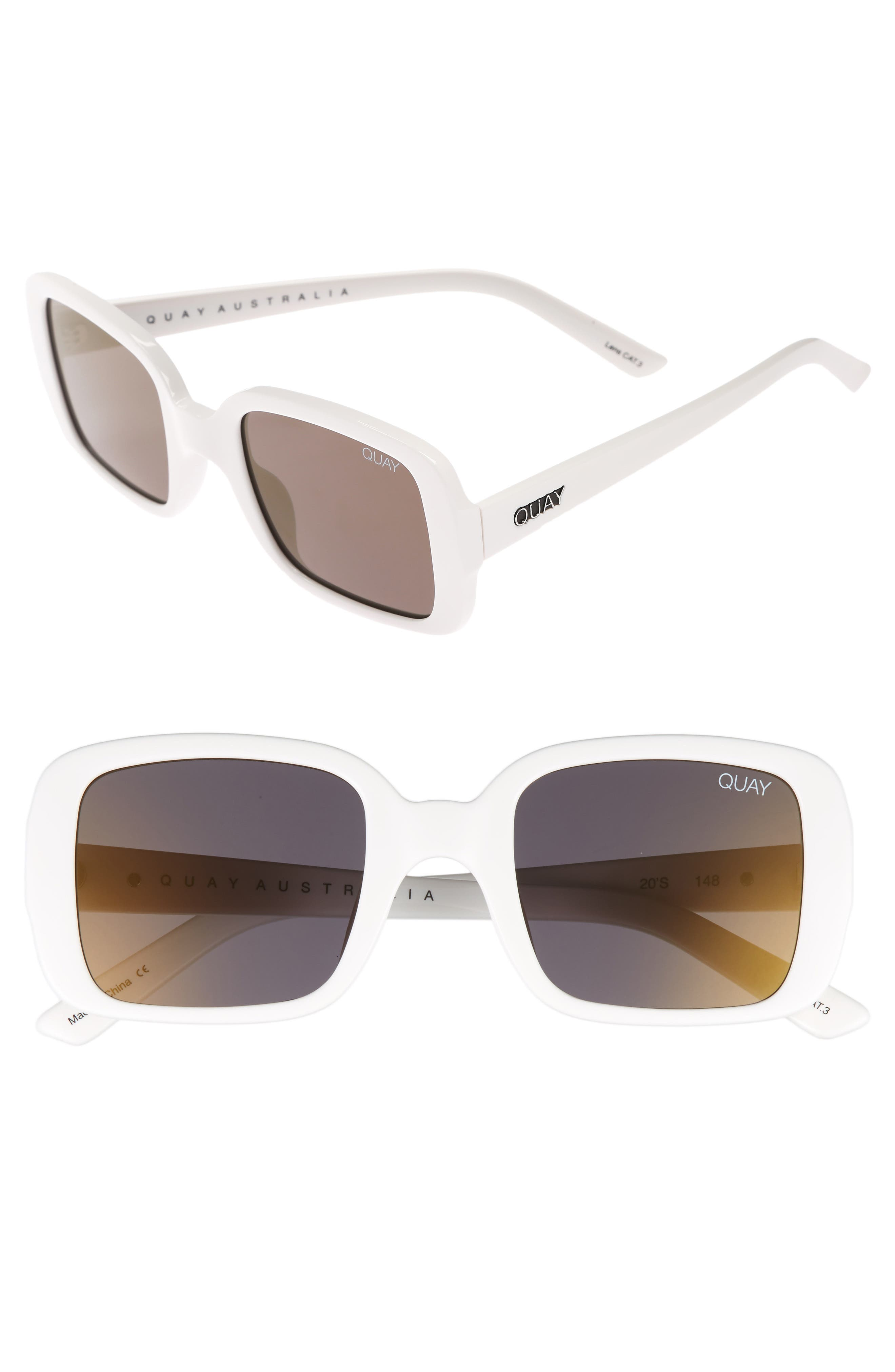 Main Image - #QUAYxKYLIE '20s 54mm Square Sunglasses