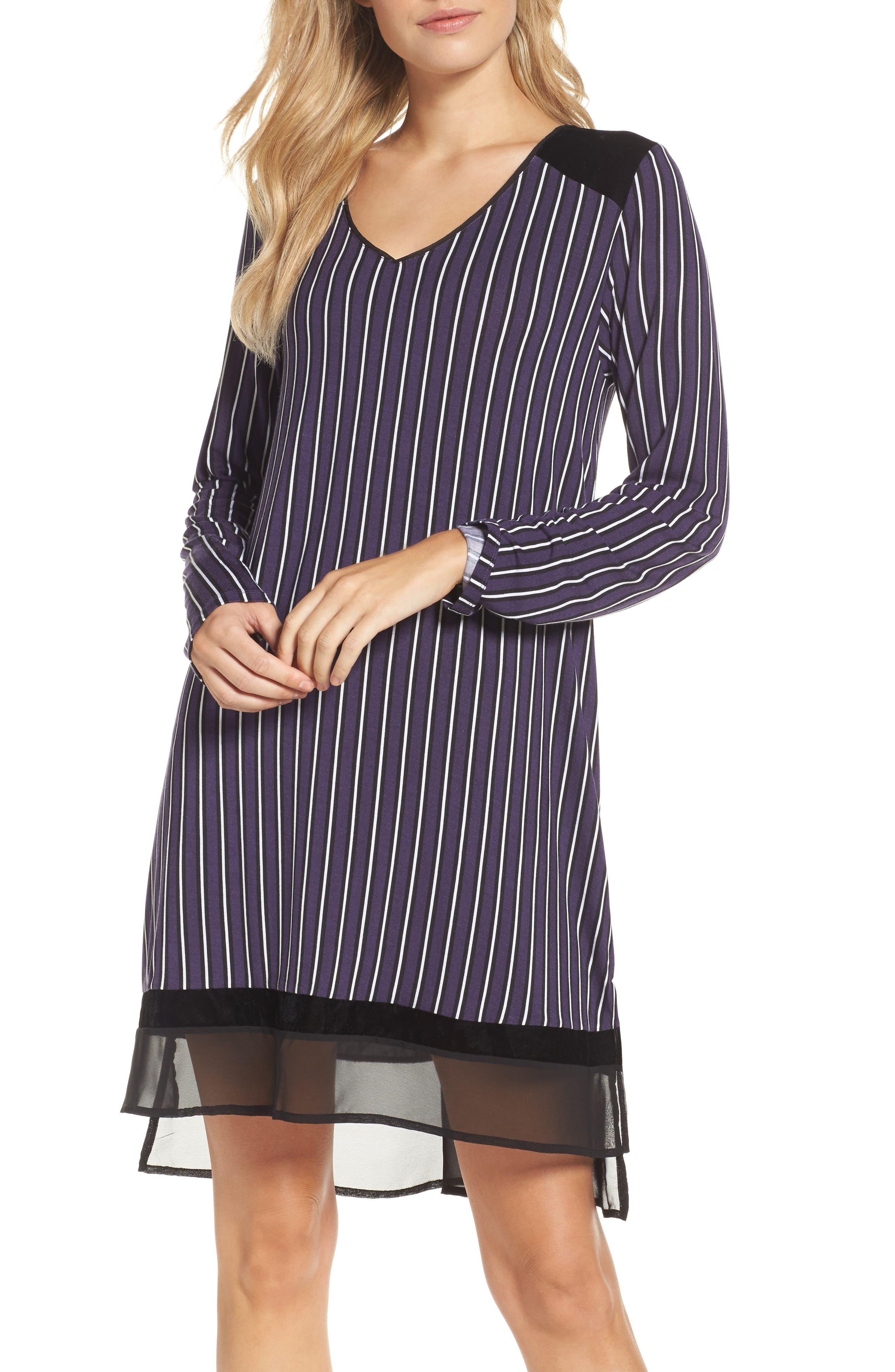 Alternate Image 1 Selected - DKNY Stripe Jersey Sleep Shirt