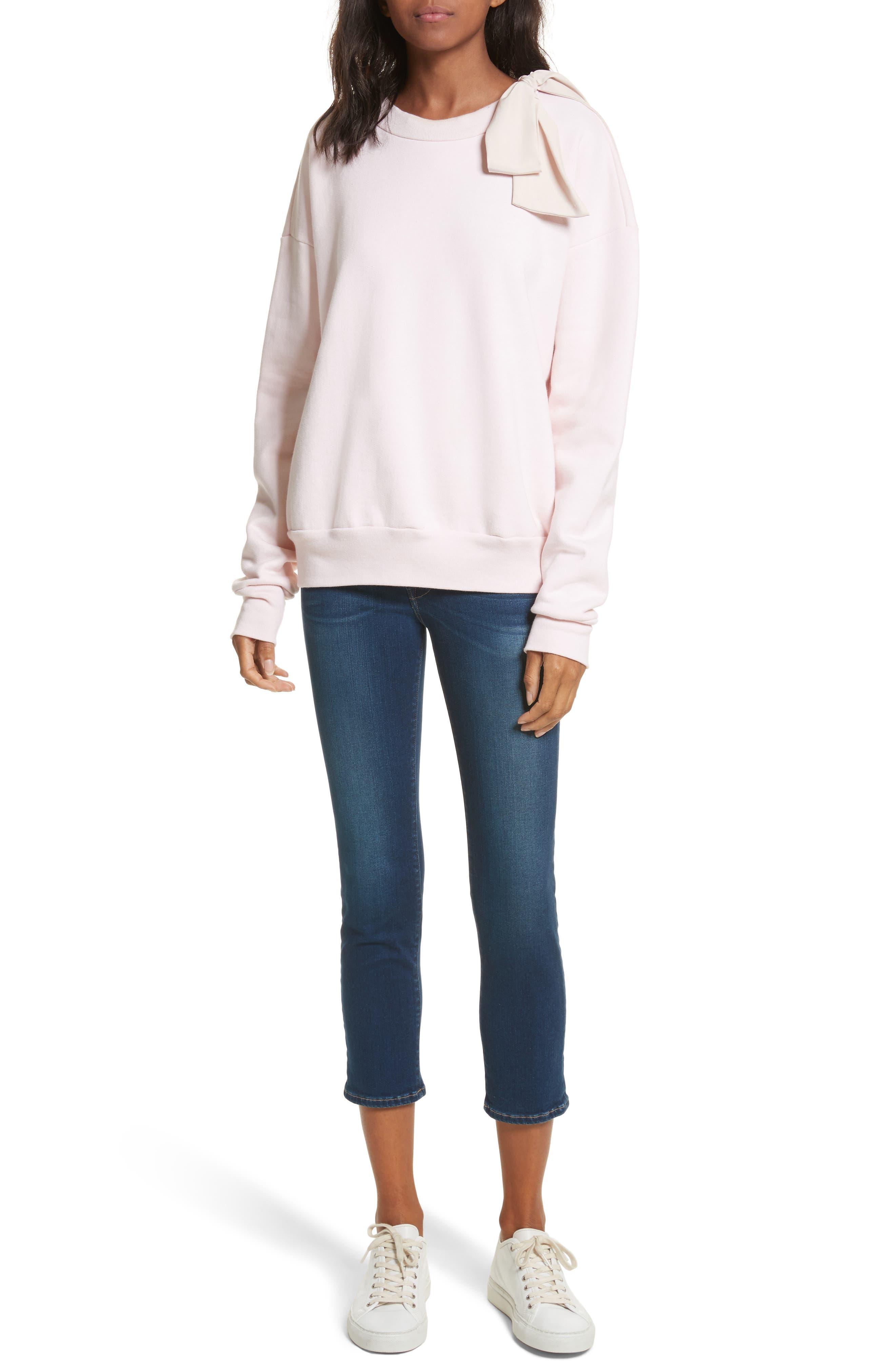 Bow Sweatshirt,                             Alternate thumbnail 2, color,                             Light Pink Exclusive