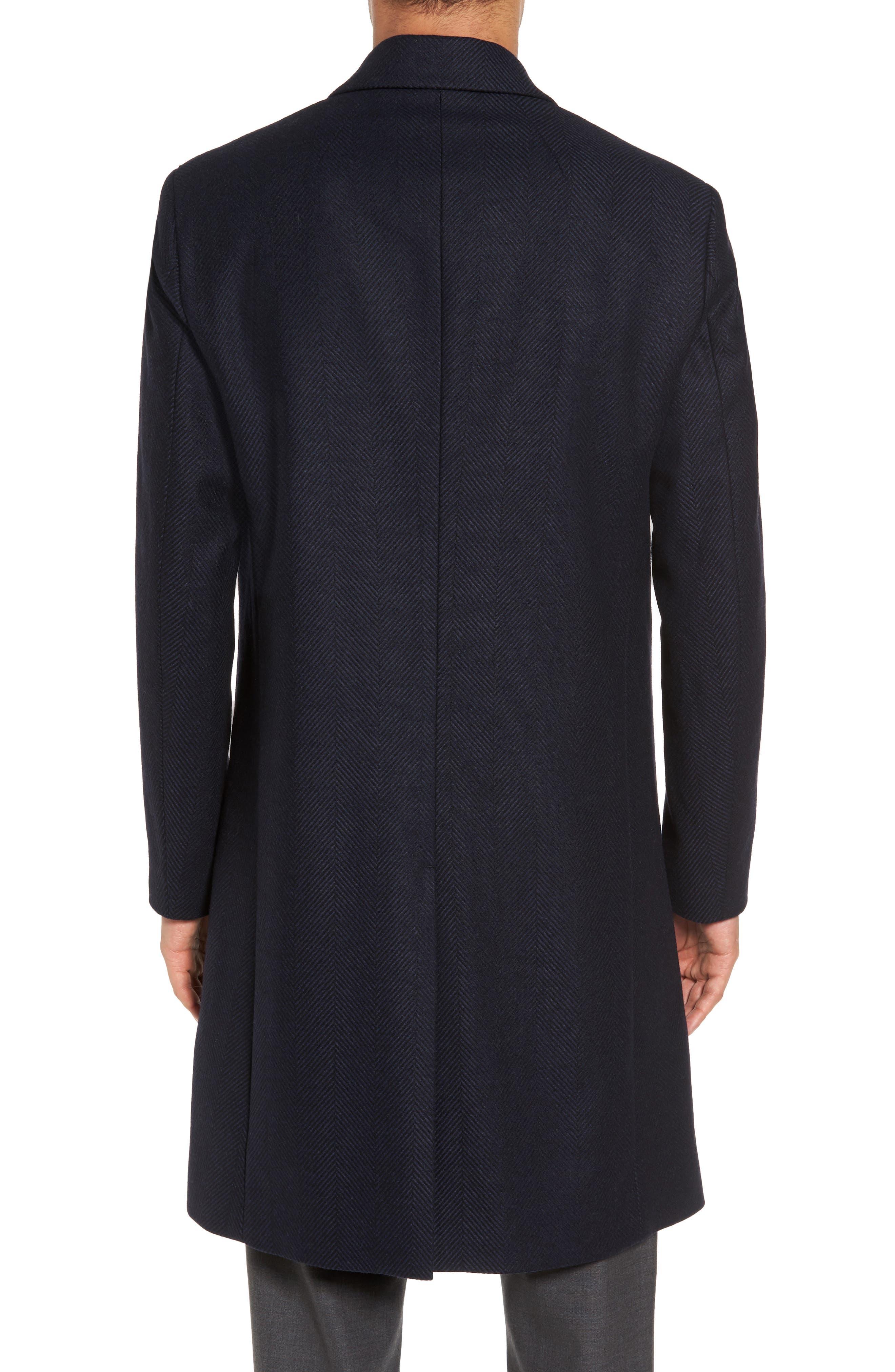 Bower Herringbone Wool Blend Topcoat,                             Alternate thumbnail 2, color,                             Liberty Multi