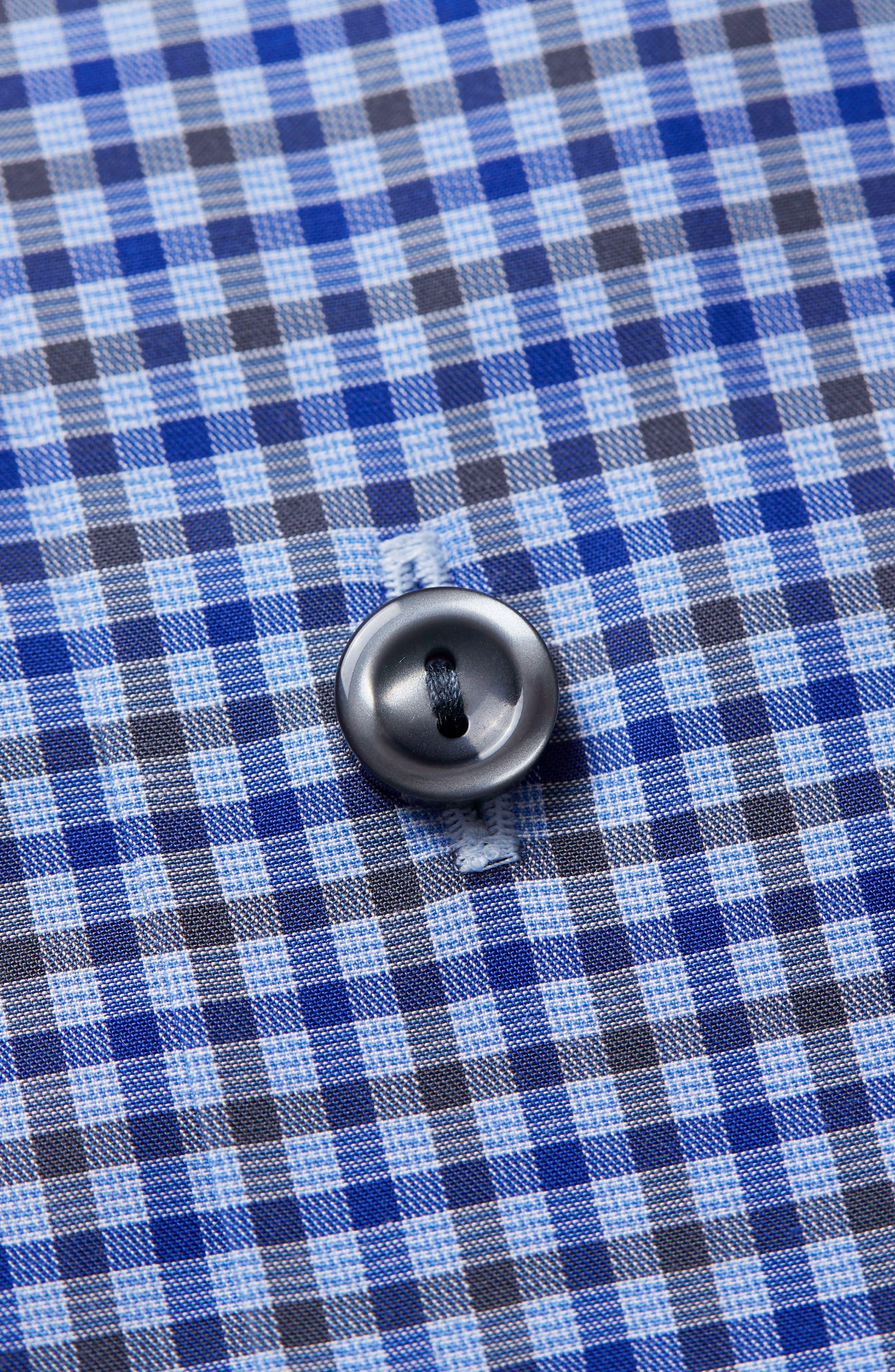 Alternate Image 4  - Eton Contemporary Fit Check Dress Shirt