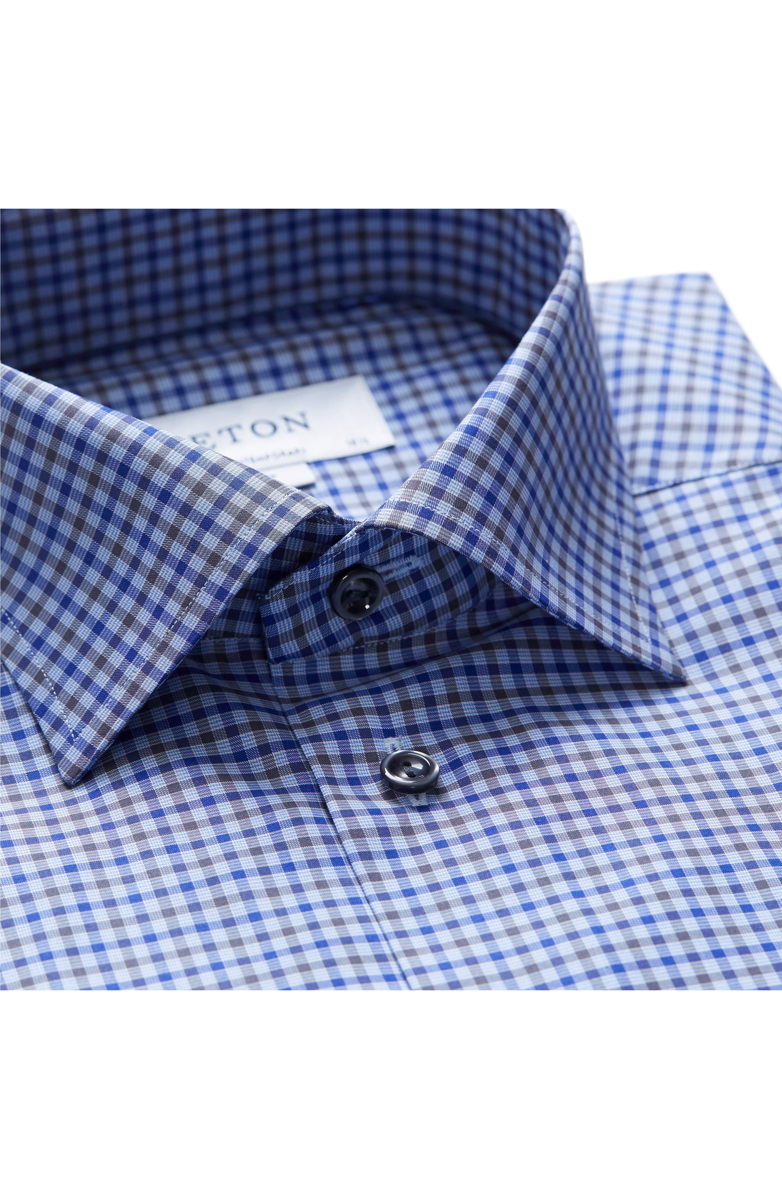 Alternate Image 3  - Eton Contemporary Fit Check Dress Shirt