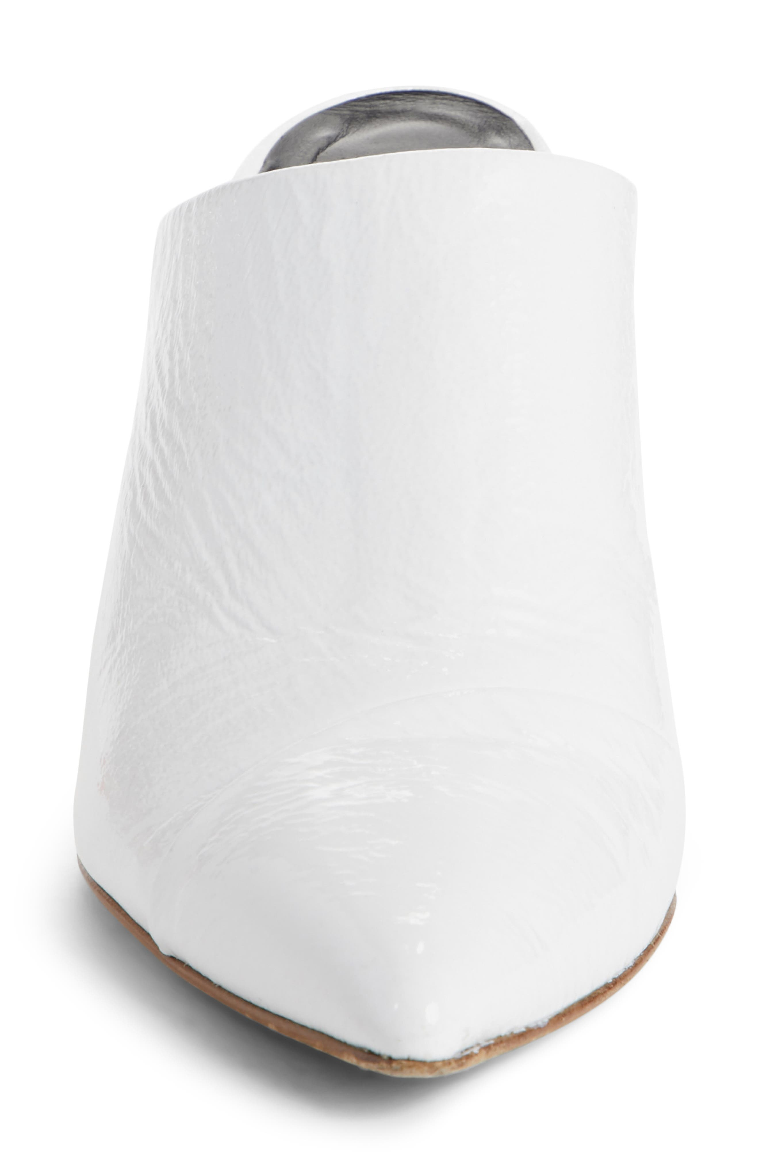 Liam Pointy Toe Mule,                             Alternate thumbnail 4, color,                             Bright White