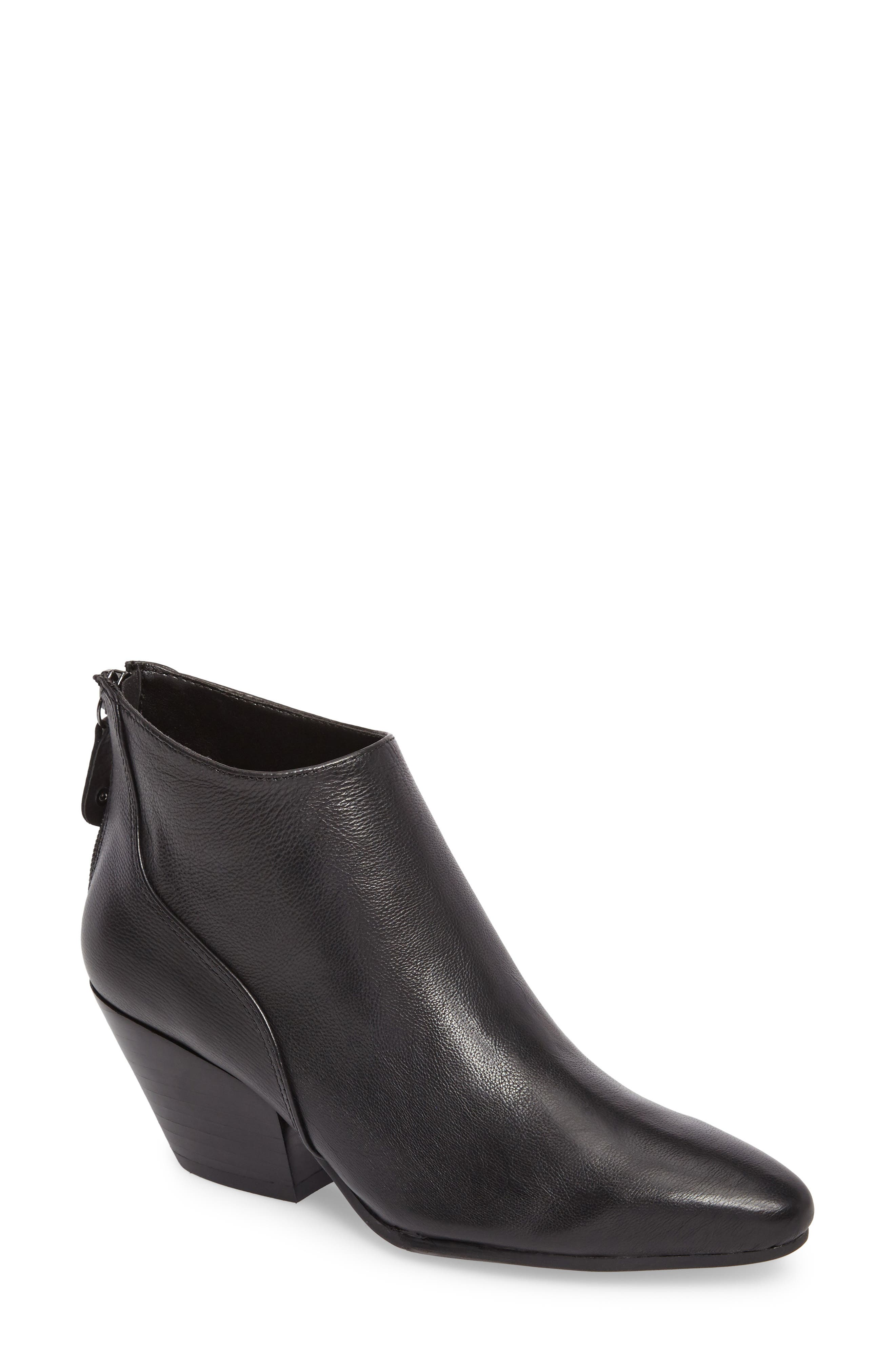 Ruby Bootie,                         Main,                         color, Black Leather