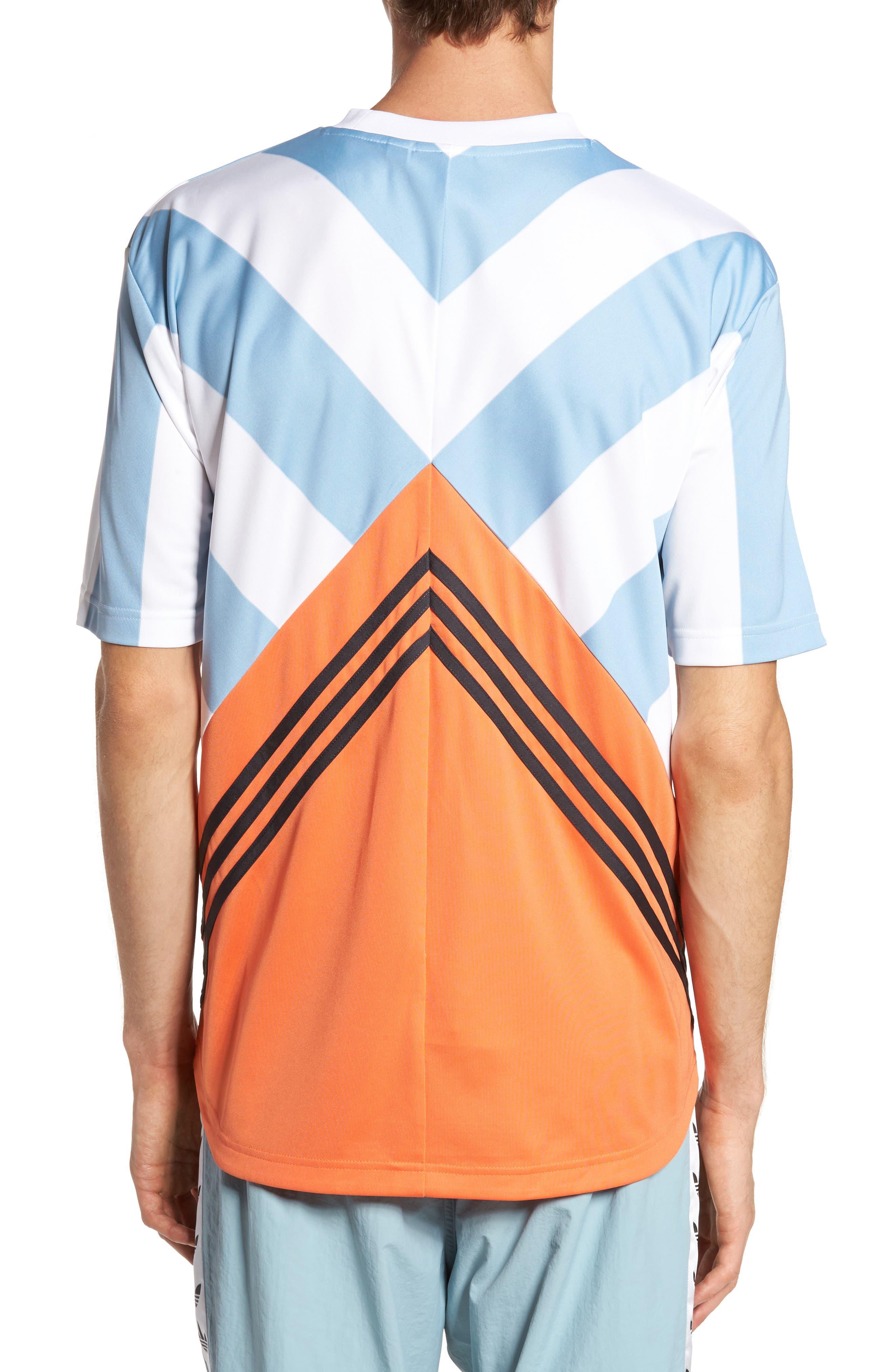 Originals Rival Goalie T-Shirt,                             Alternate thumbnail 2, color,                             Ash Grey/ White