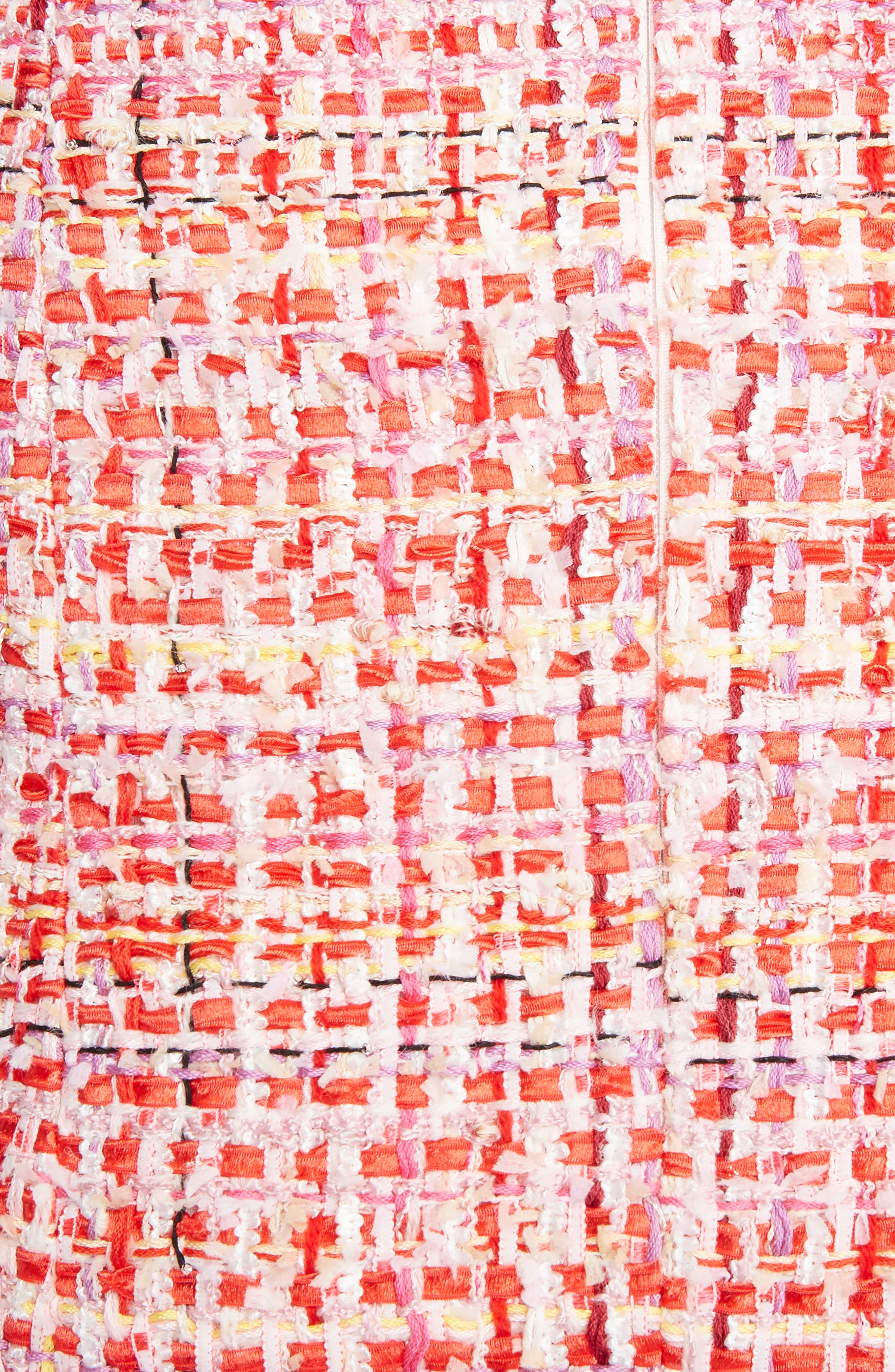 Ribbon Tweed Sheath Dress,                             Alternate thumbnail 5, color,                             Mix