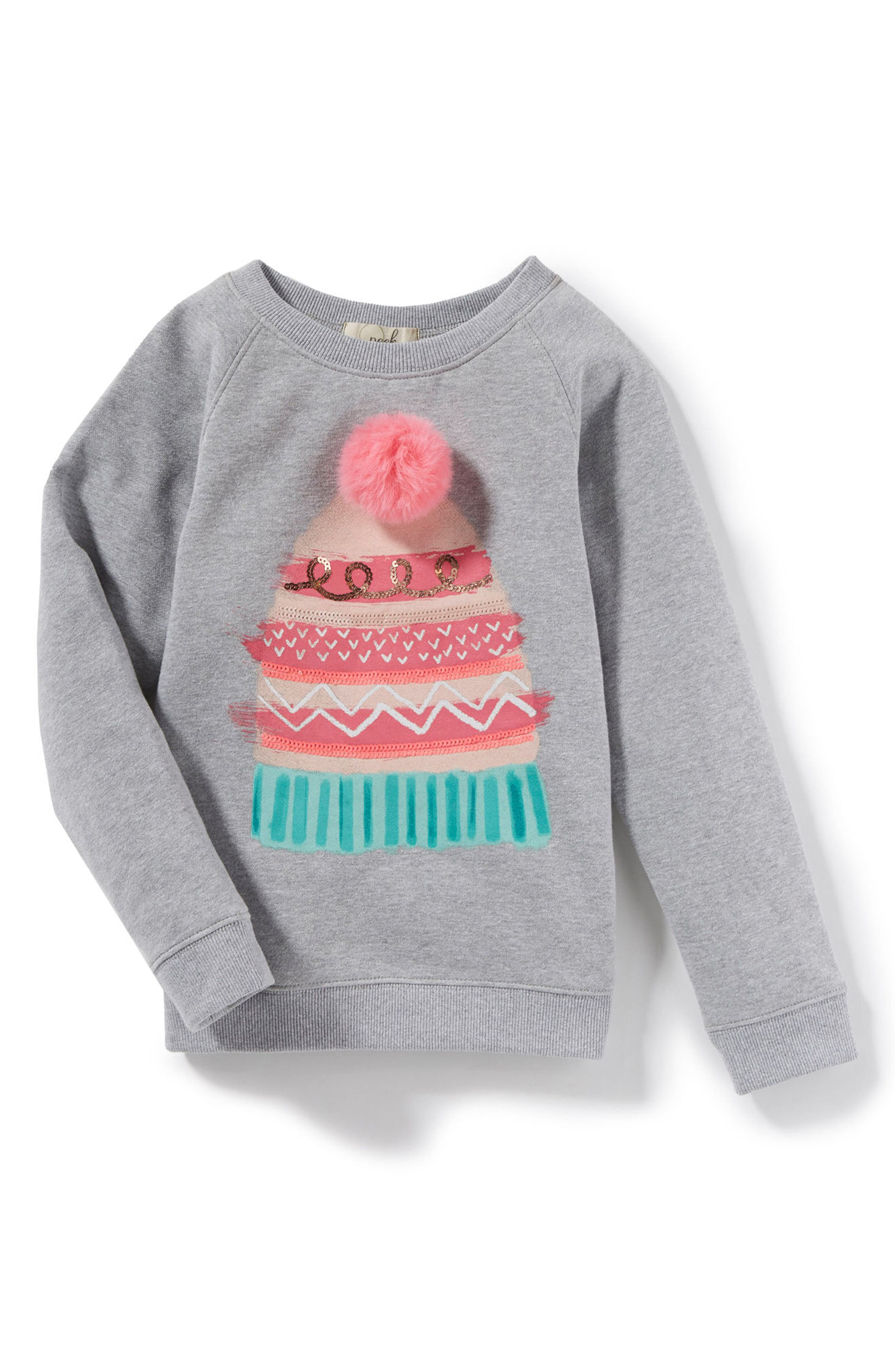 Peek Hat Sweatshirt (Toddler Girls, Little Girls & Big Girls)