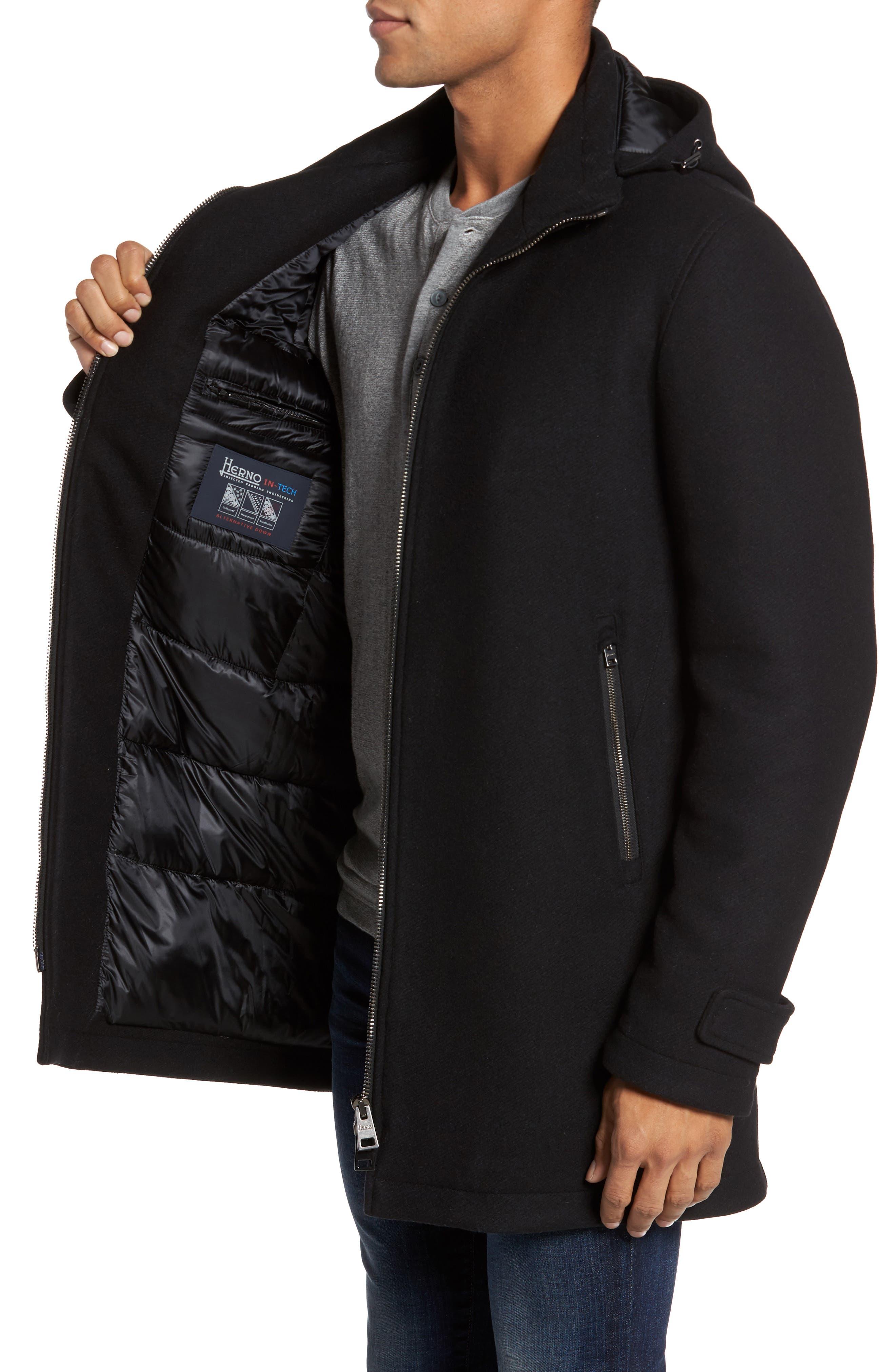 Alternate Image 3  - Herno Wool Blend Hooded Coat
