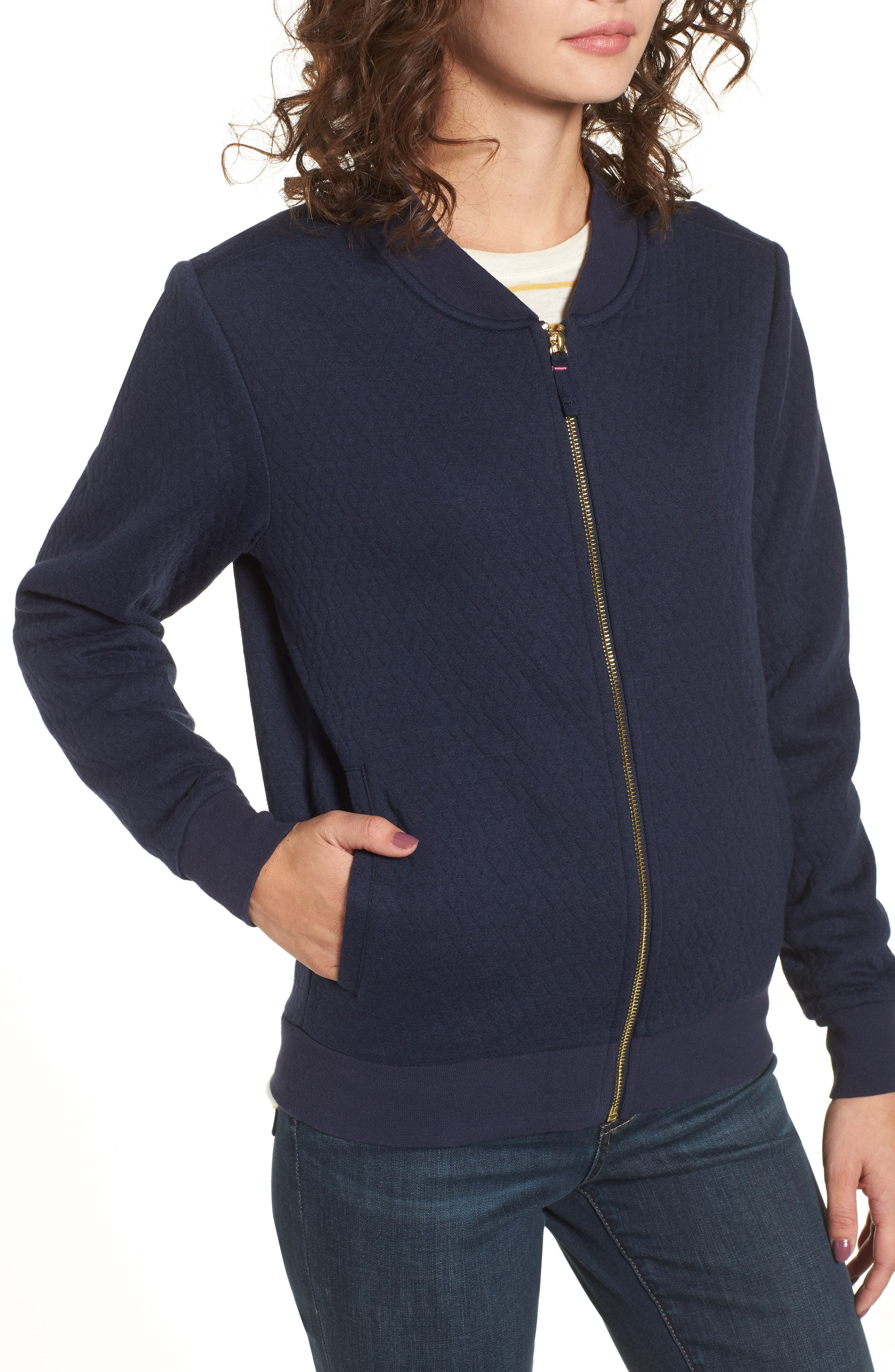 Alternate Image 4  - Joules Millie Bomber Sweatshirt Jacket
