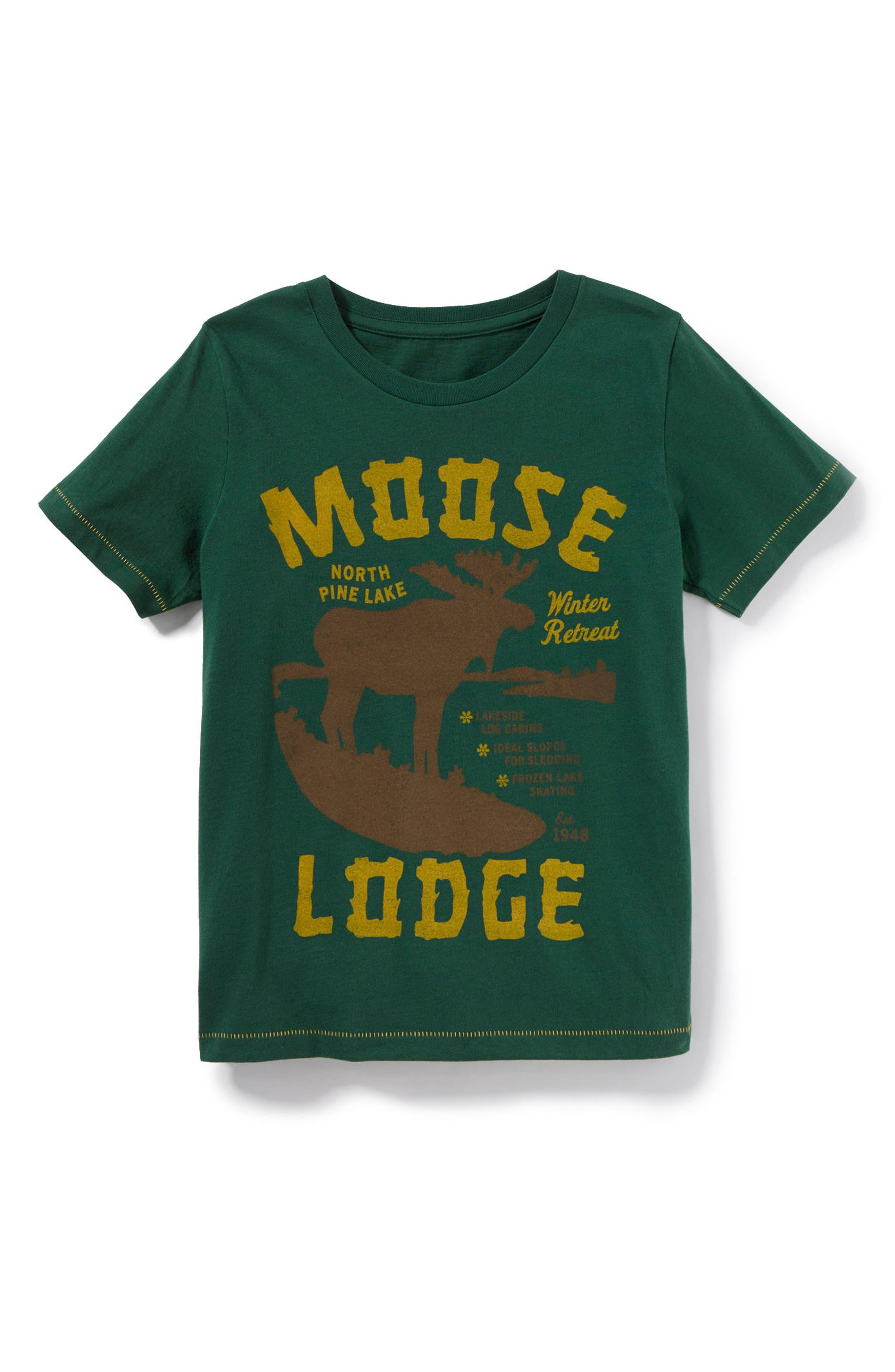 Alternate Image 1 Selected - Peek Moose Lodge Graphic T-Shirt (Toddler Boys, Little Boys & Big Boys)