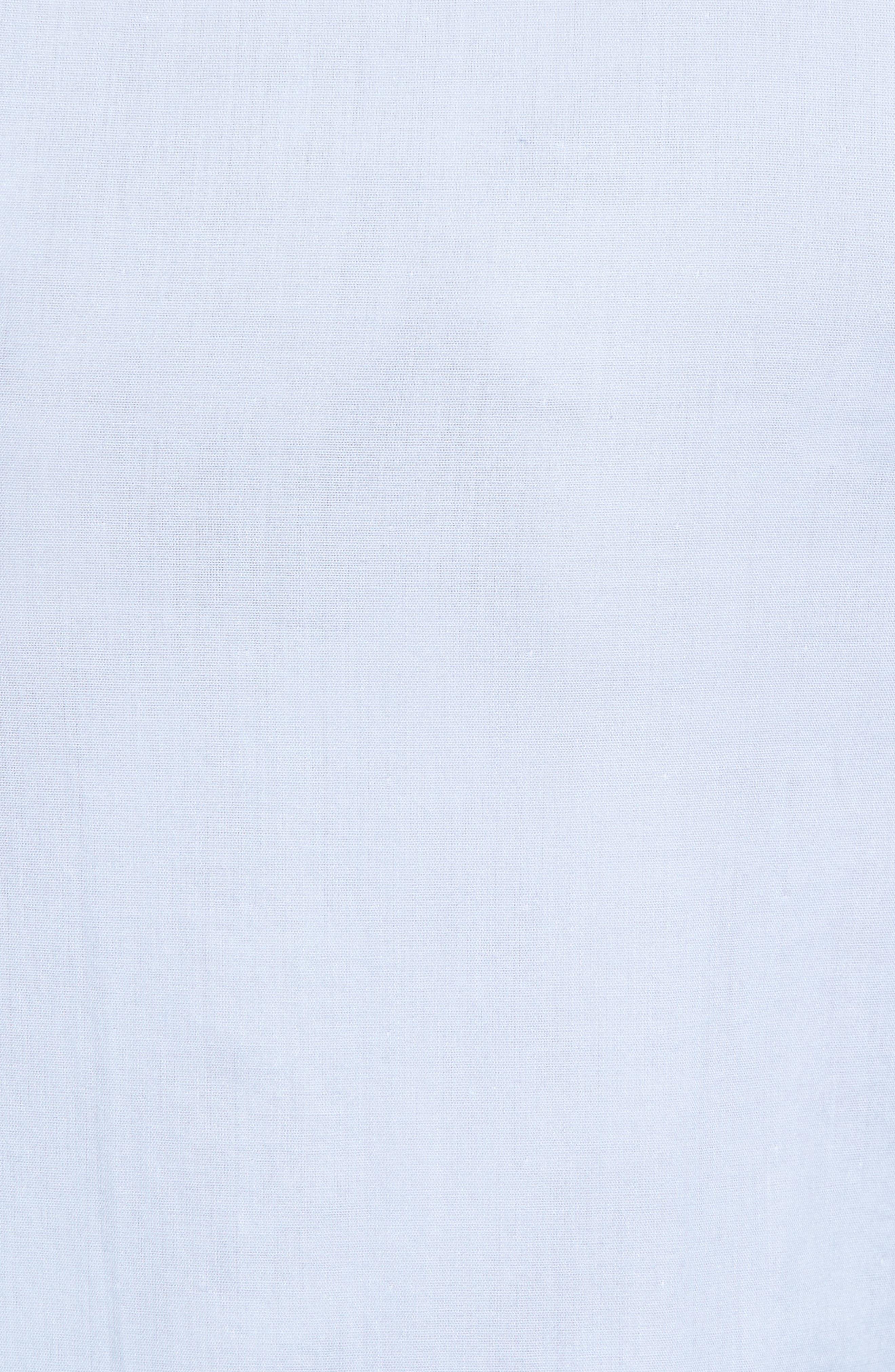 02 Extra Slim Fit Fair Isle Print Sport Shirt,                             Alternate thumbnail 5, color,                             Hamptons Blue